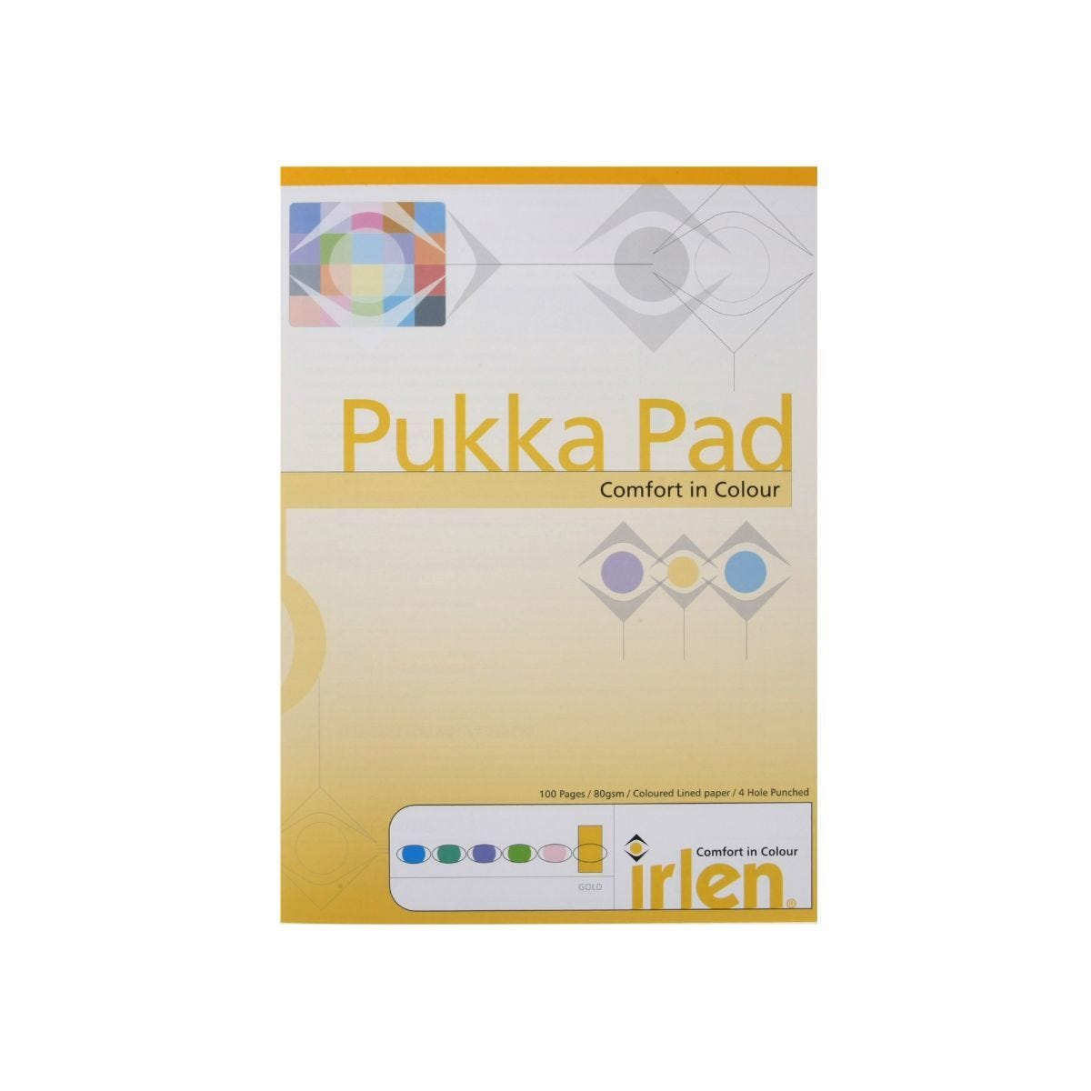 Pukka Dyslexia Pad A4 80gsm Ruled With Margin 100 Pages 50 Sheets  Gold