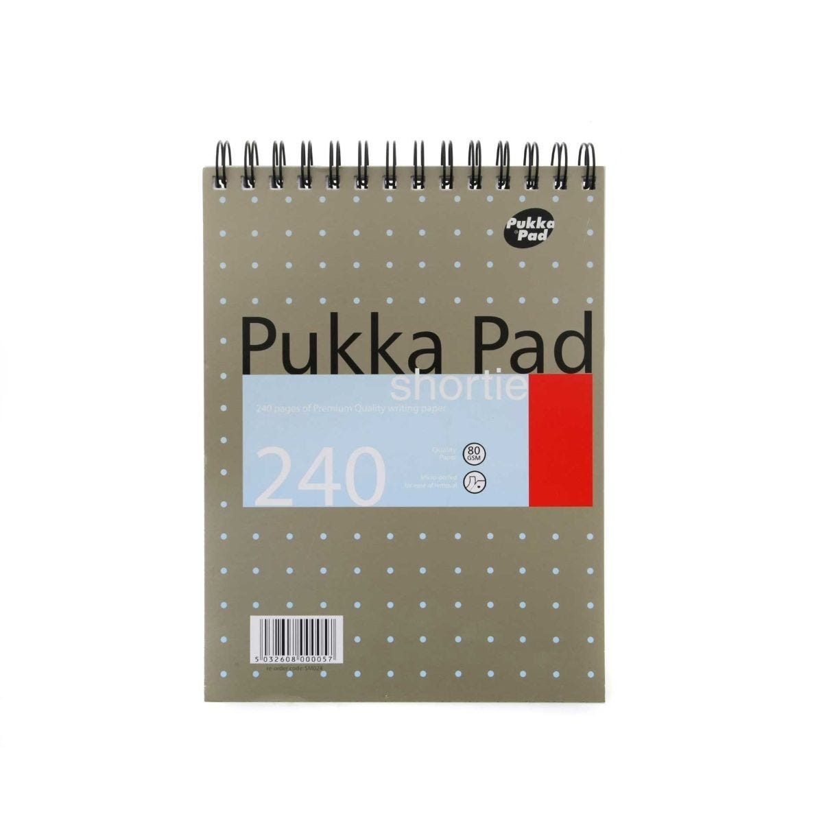 Pukka Pad Shortie Ruled Perforated 80gsm 240 Pages Pack of 3