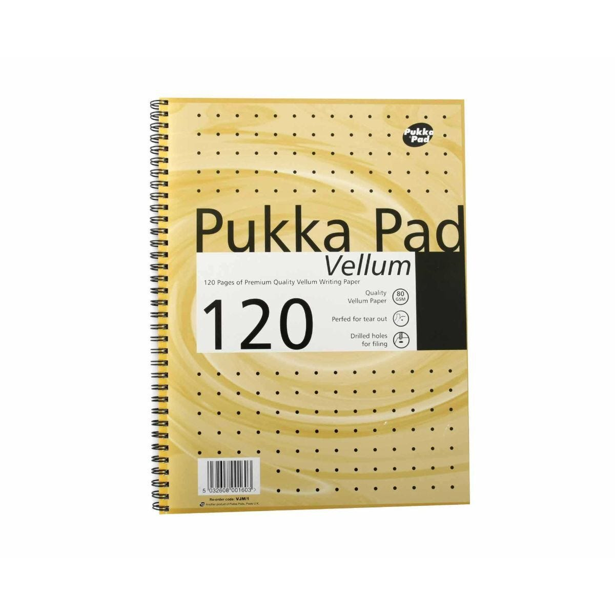 Pukka Vellum A4 Notepad Wire Bound Perforated 120 Pages Pack of 3