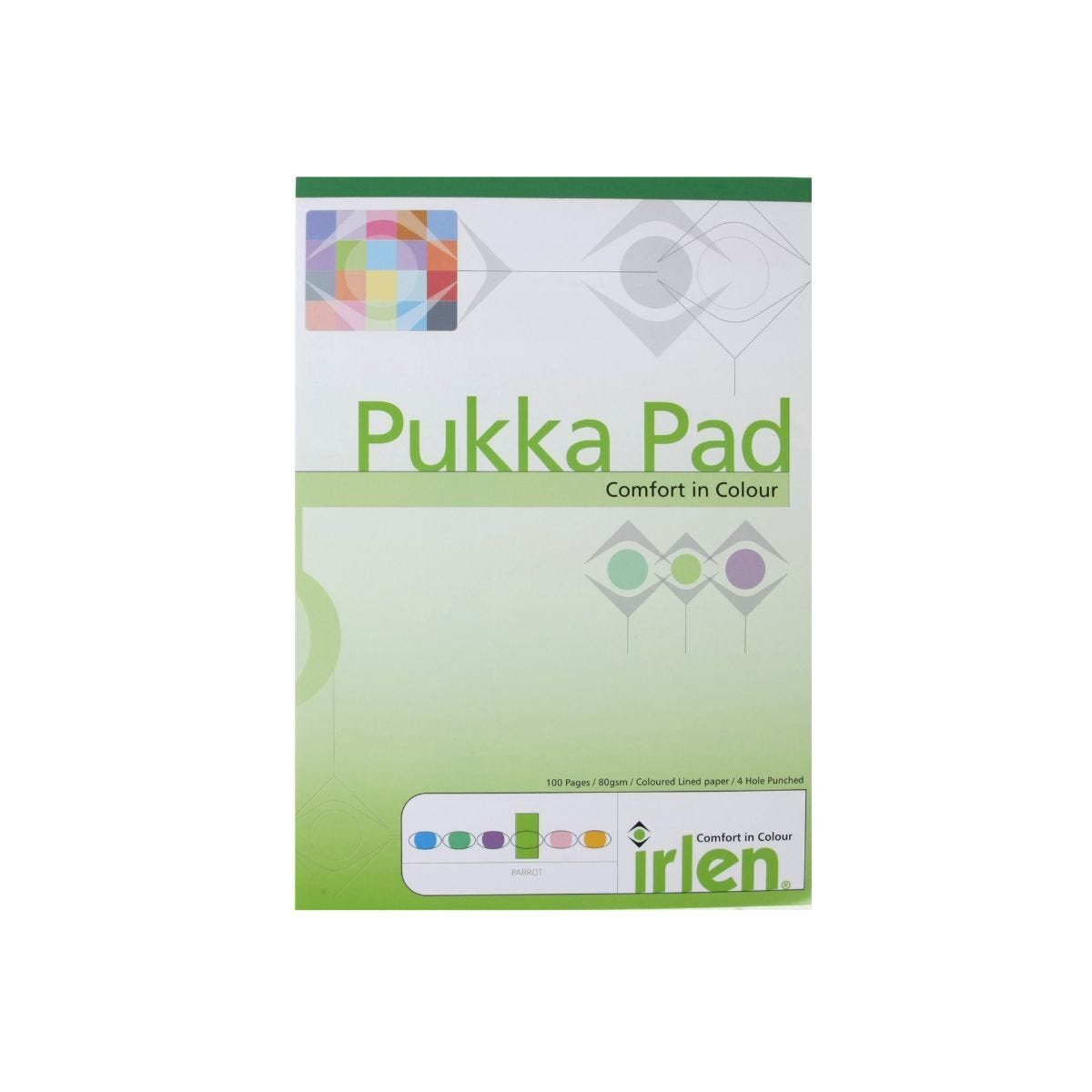 Pukka Dyslexia Pad A4 80gsm Ruled With Margin 100 Pages 50 Sheets Pack of 6 Green