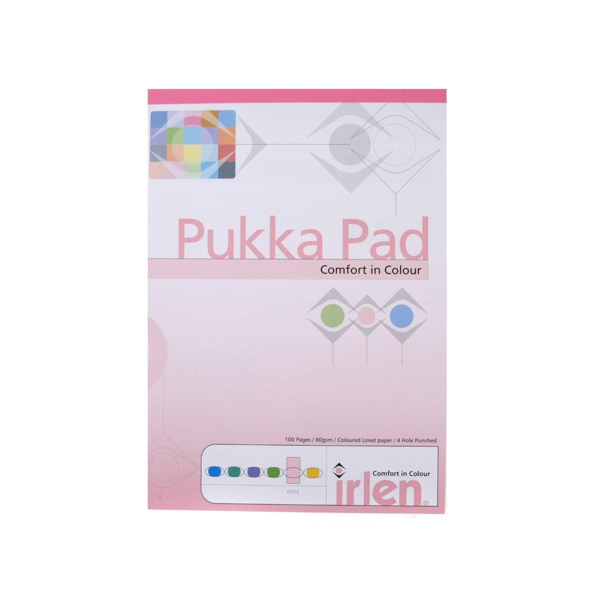 Pukka Dyslexia Pad A4 80gsm Ruled With Margin 100 Pages 50 Sheets Pack of 6 Rose