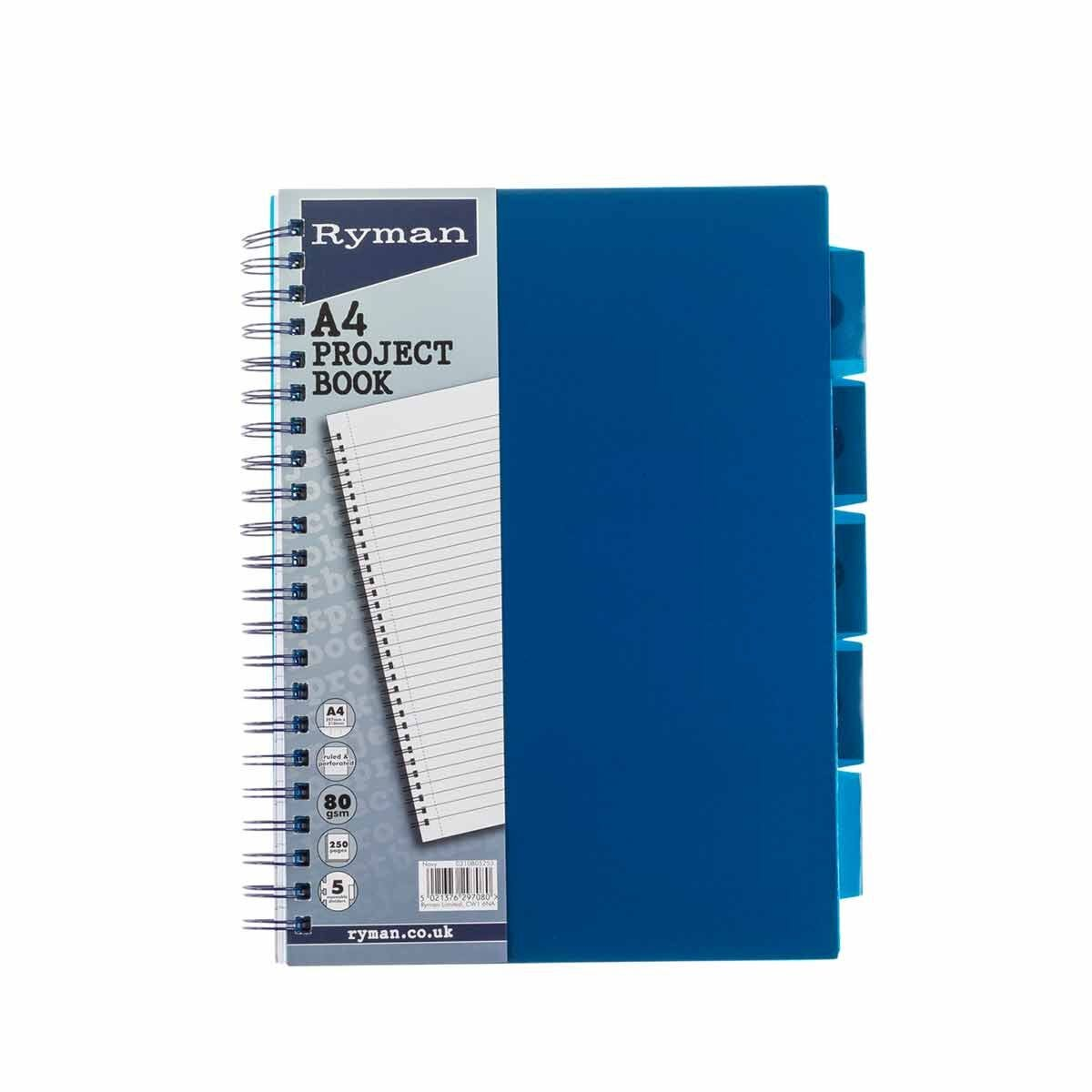Ryman Pastel Project Book A4 Navy