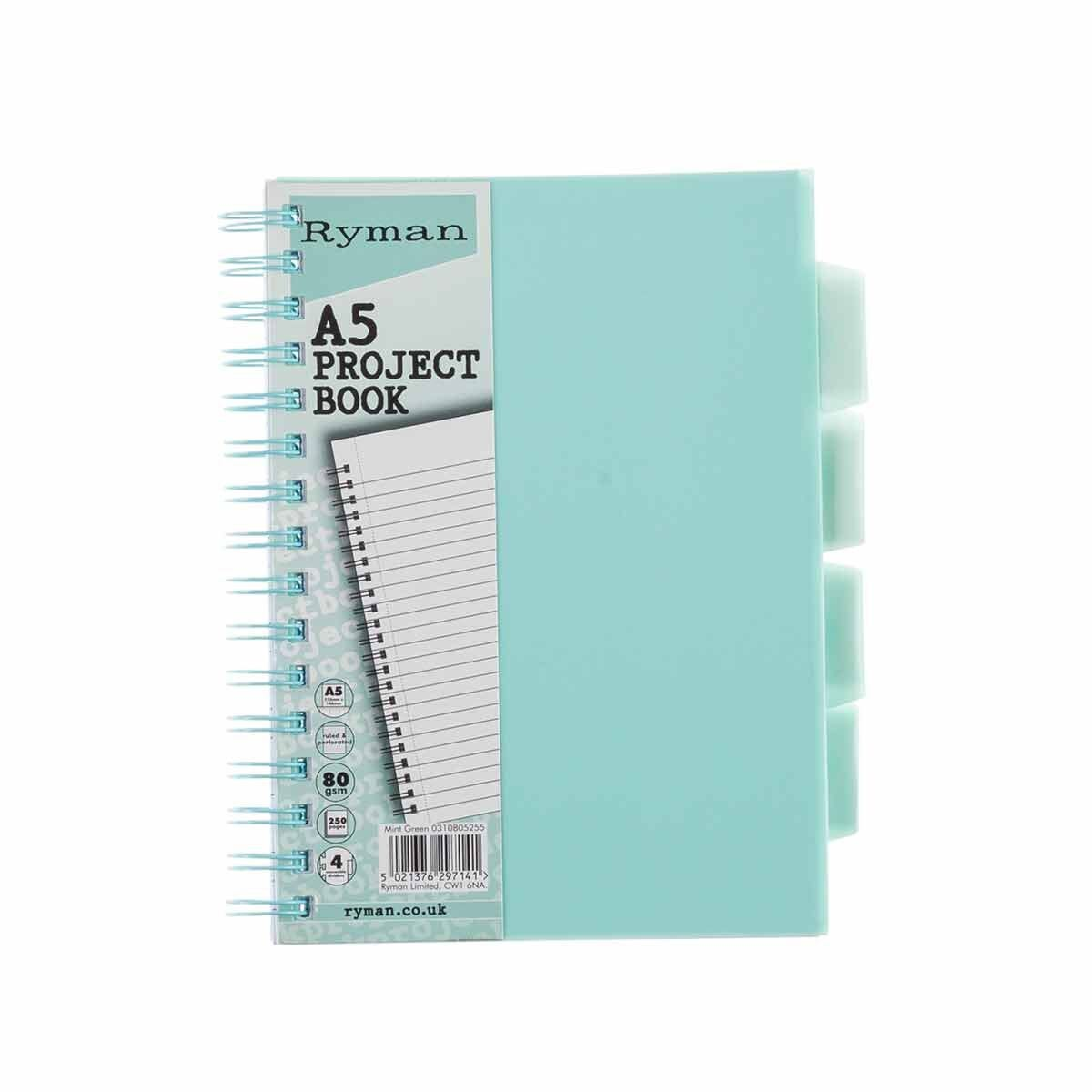 Ryman Pastel Project Book A5 Mint