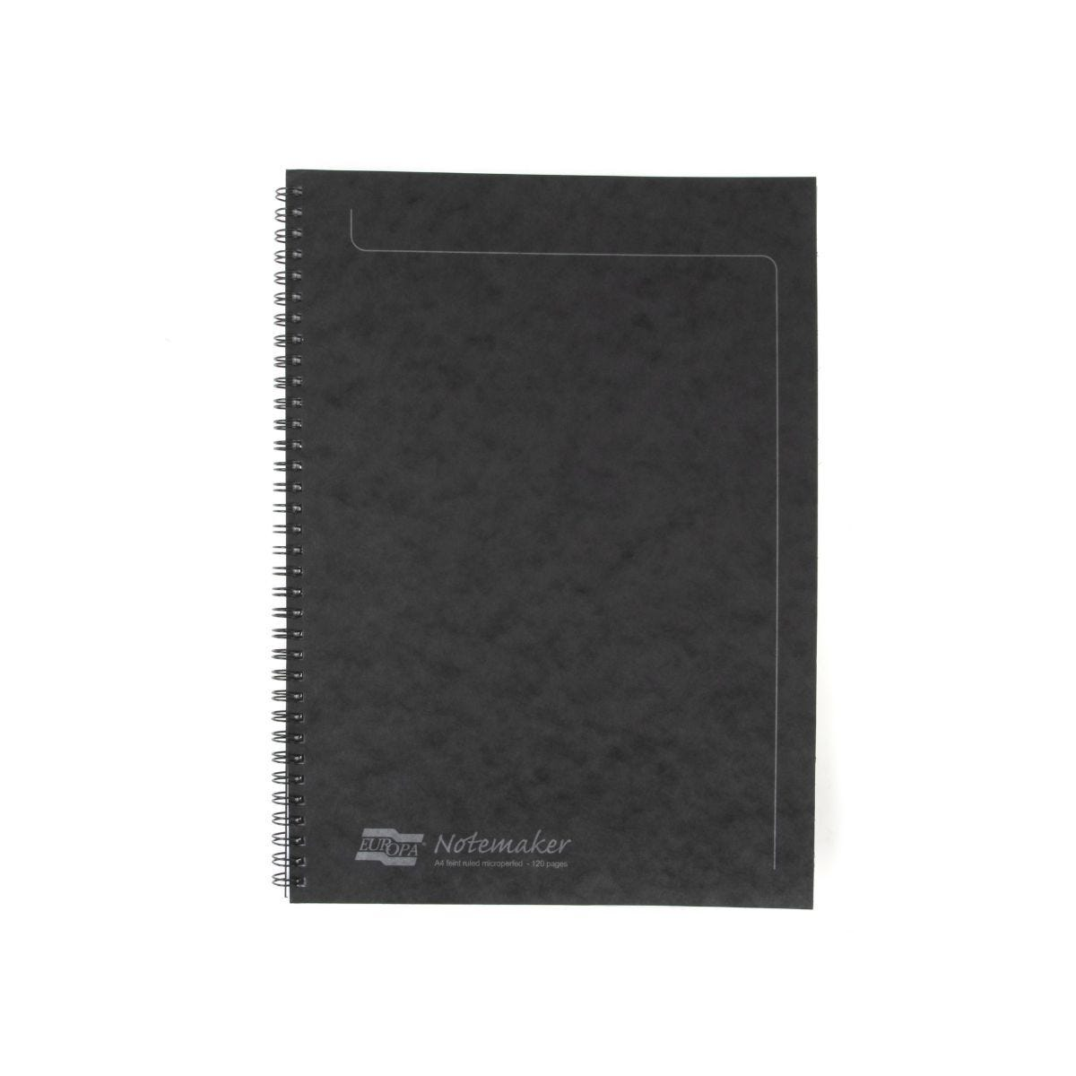 Europa Notemaker A4 Spiralbound Pad Black