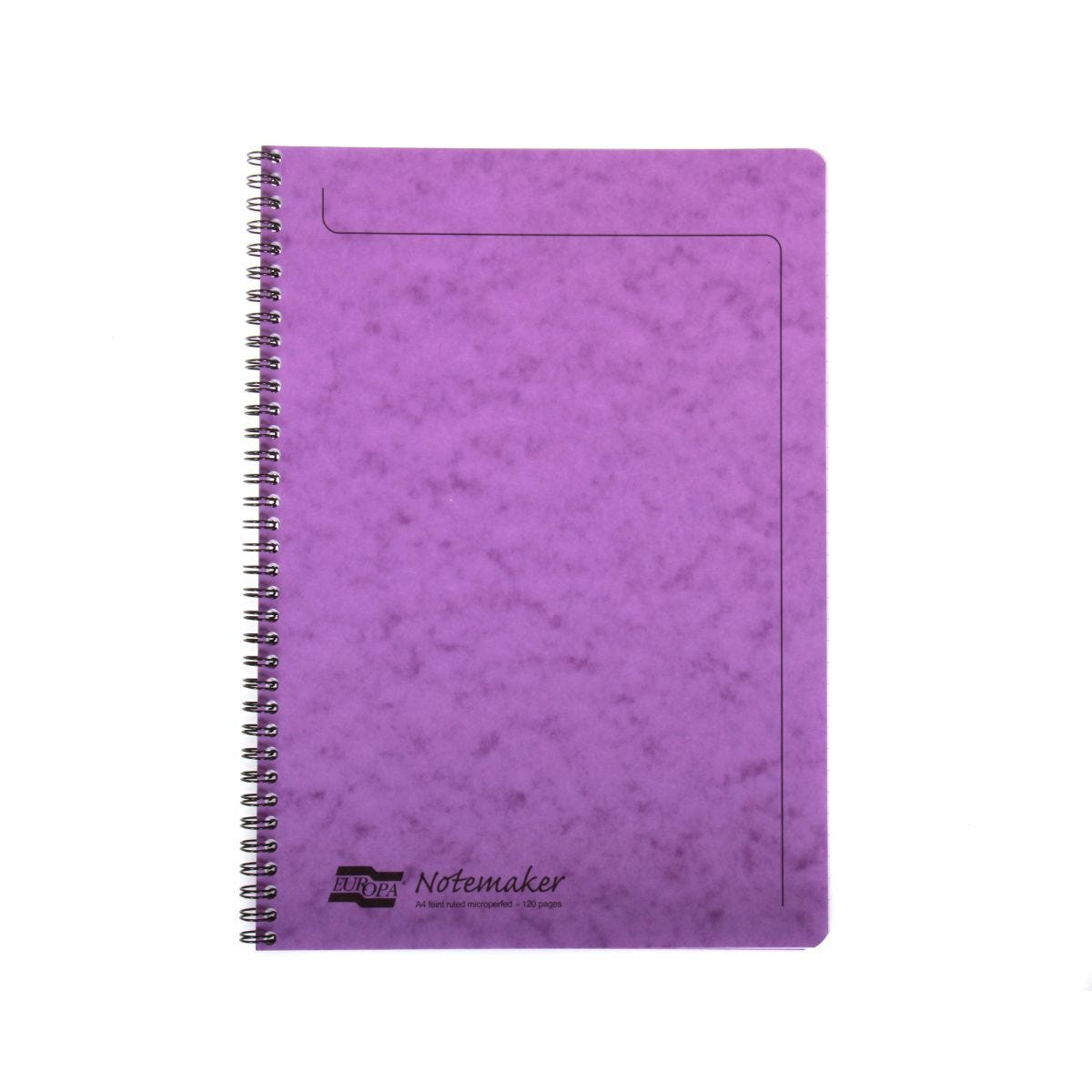 Europa A4 Notemaker 120 Pages 60 Sheets 90gsm Lilac