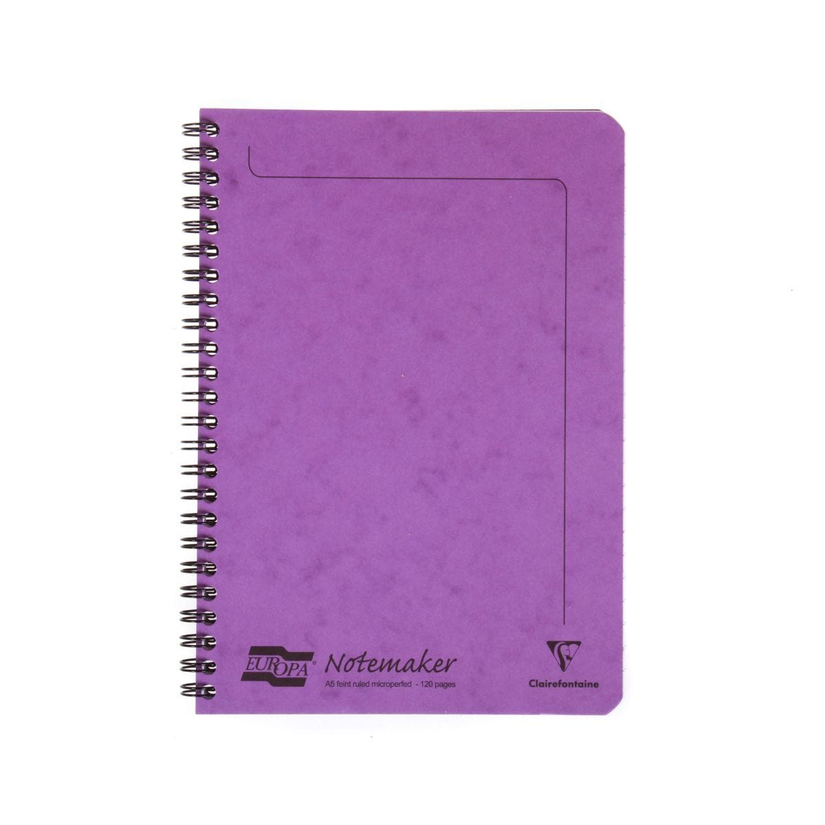 Europa A5 Notemaker 120 Pages 60 Sheets 90gsm Lilac