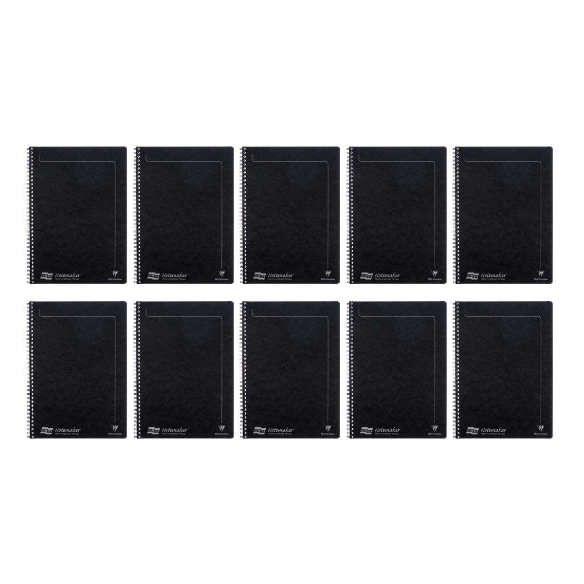 Europa Notemaker Notebooks Black A4 120 Page Pack Of 10