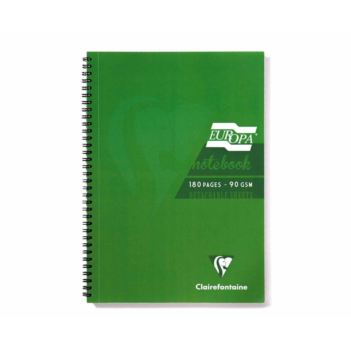 Europa Notebook A4 Green