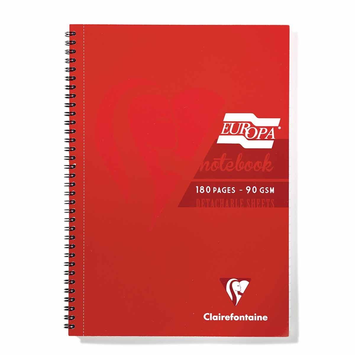 Europa Notebook A4 Red