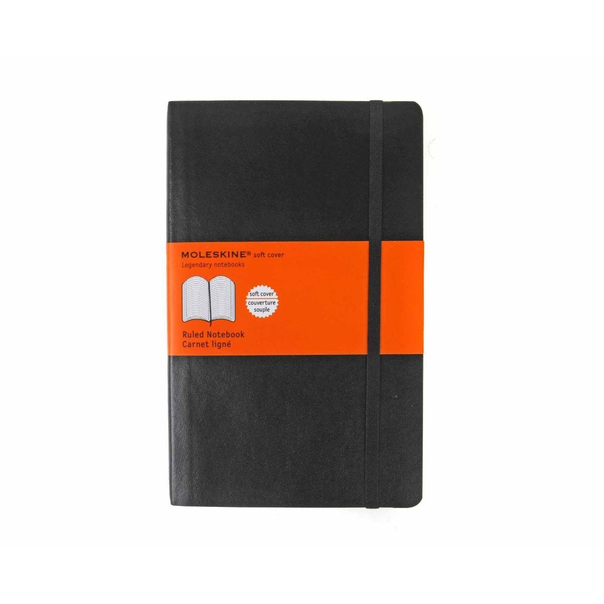 Moleskine Notebook Soft Cover Large Ruled 210x130mm 192 Pages 96 Sheets