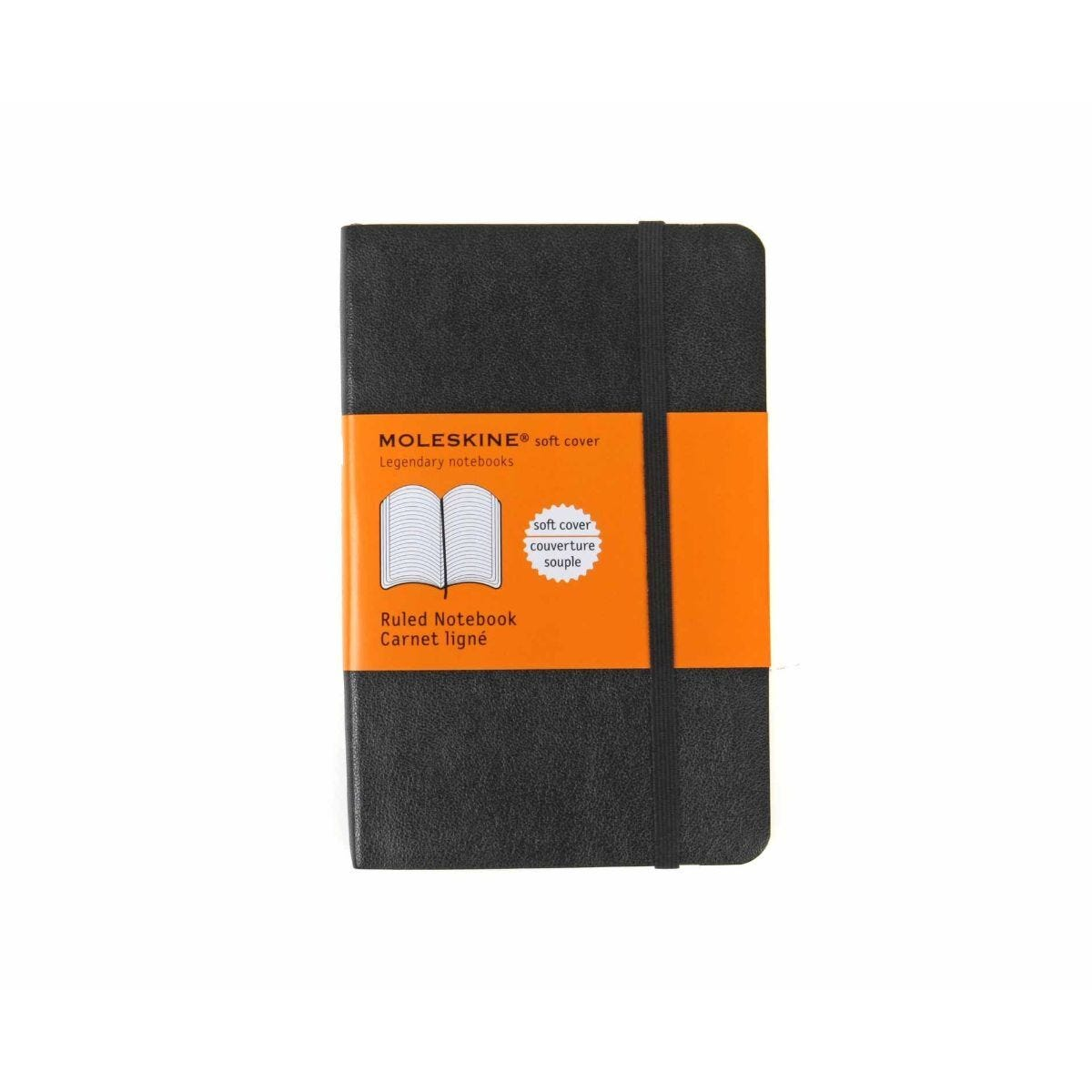 Moleskine Soft Cover Ruled Pocket Notebook 192 Pages 96 Sheets