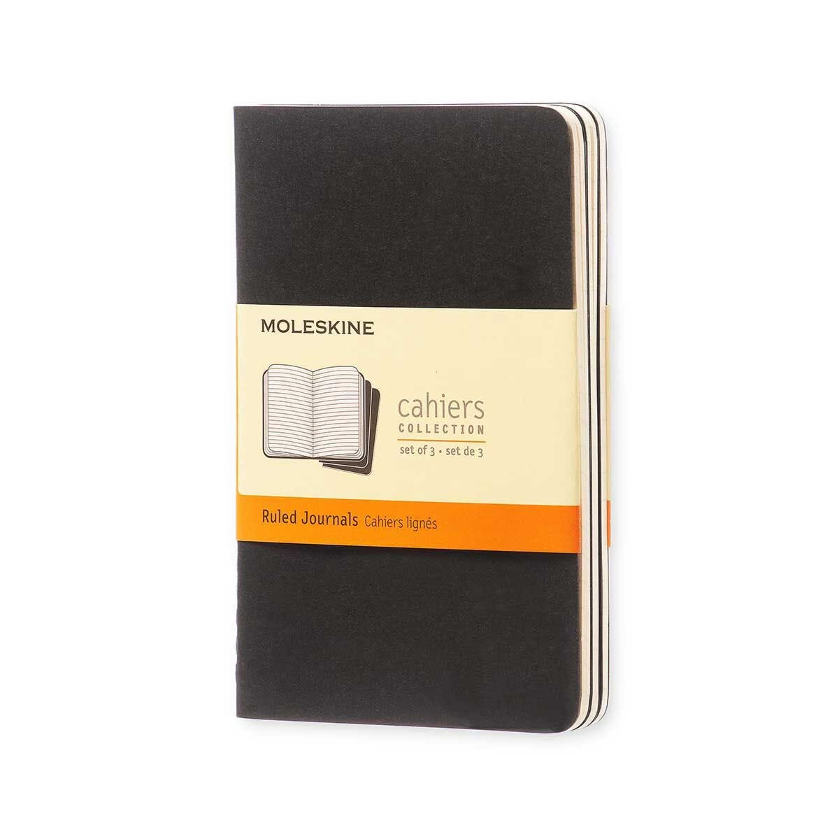 Moleskine Cahiers Pocket Notebooks Pack of 3 Soft Cover Black