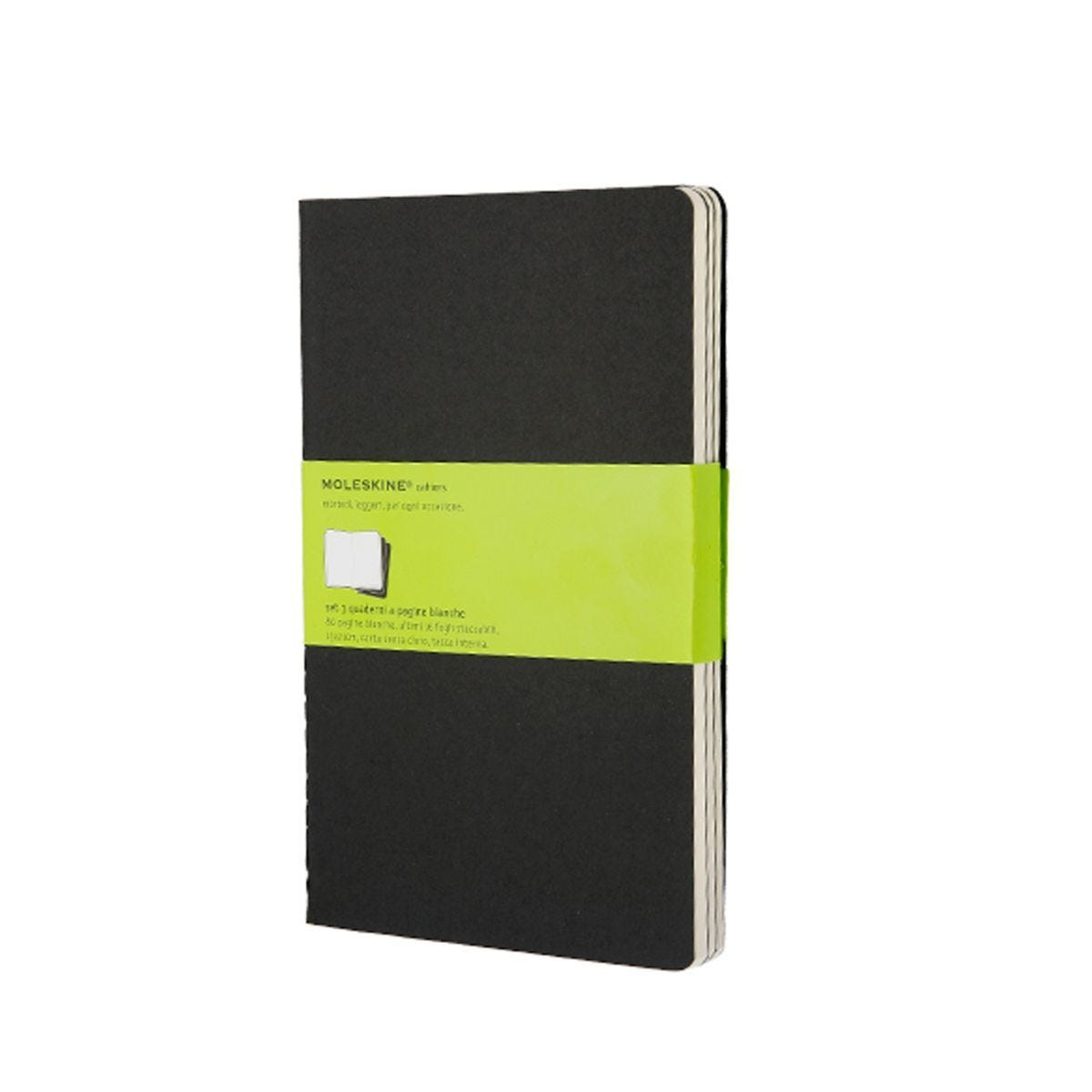 Moleskine Cahier Large Plain Journals Black