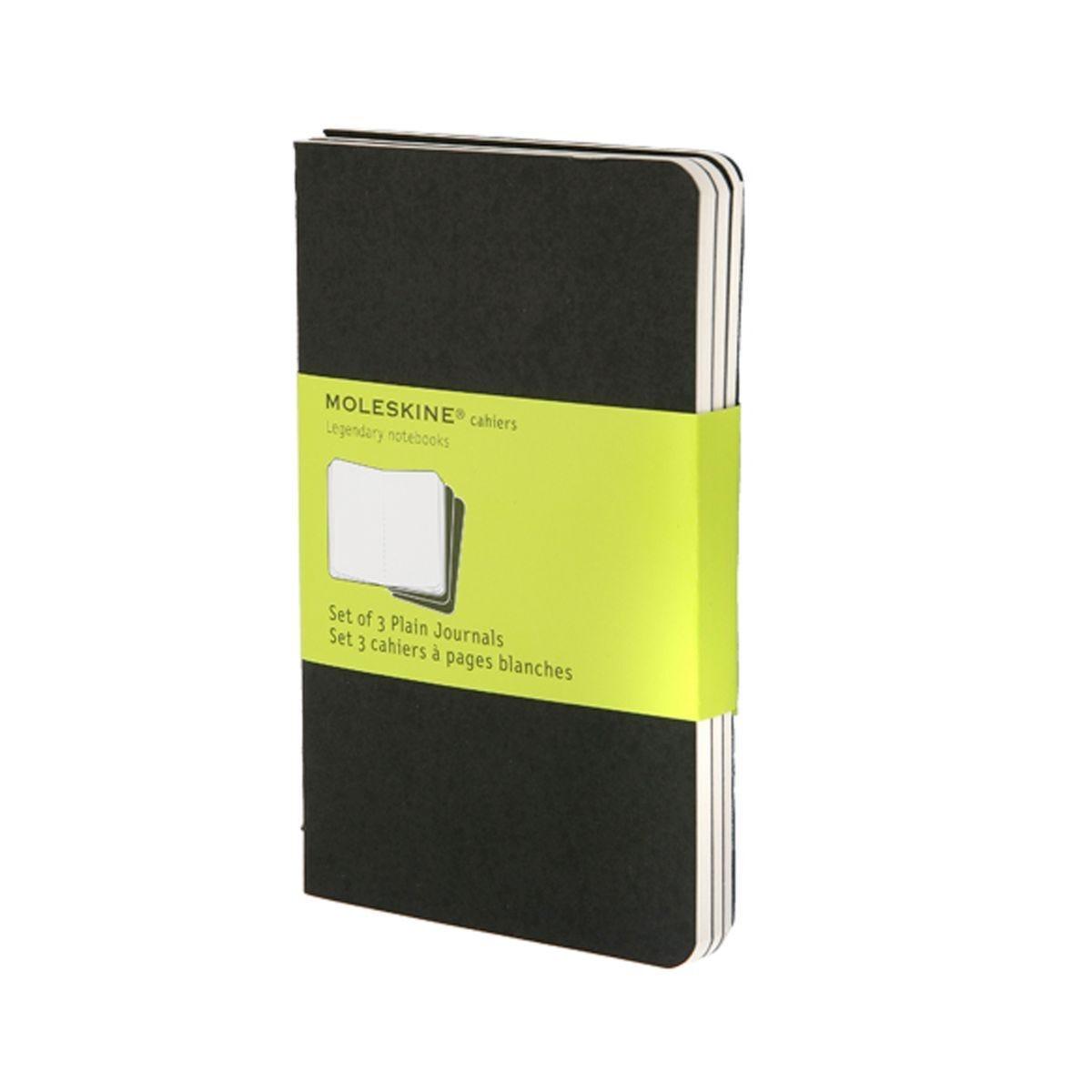Moleskine Cahier Pocket Plain Journals Pack of 3 Black