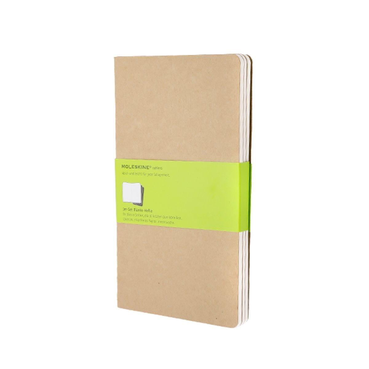 Moleskine Cahier Large Plain Journals Kraft