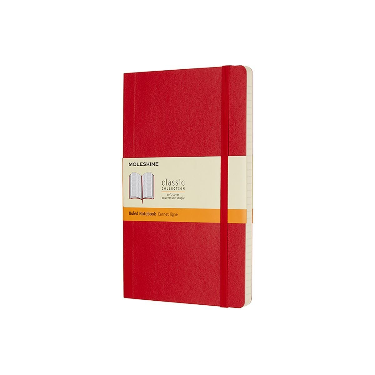 Moleskine Soft Cover Classic Notebook Large Ruled Red