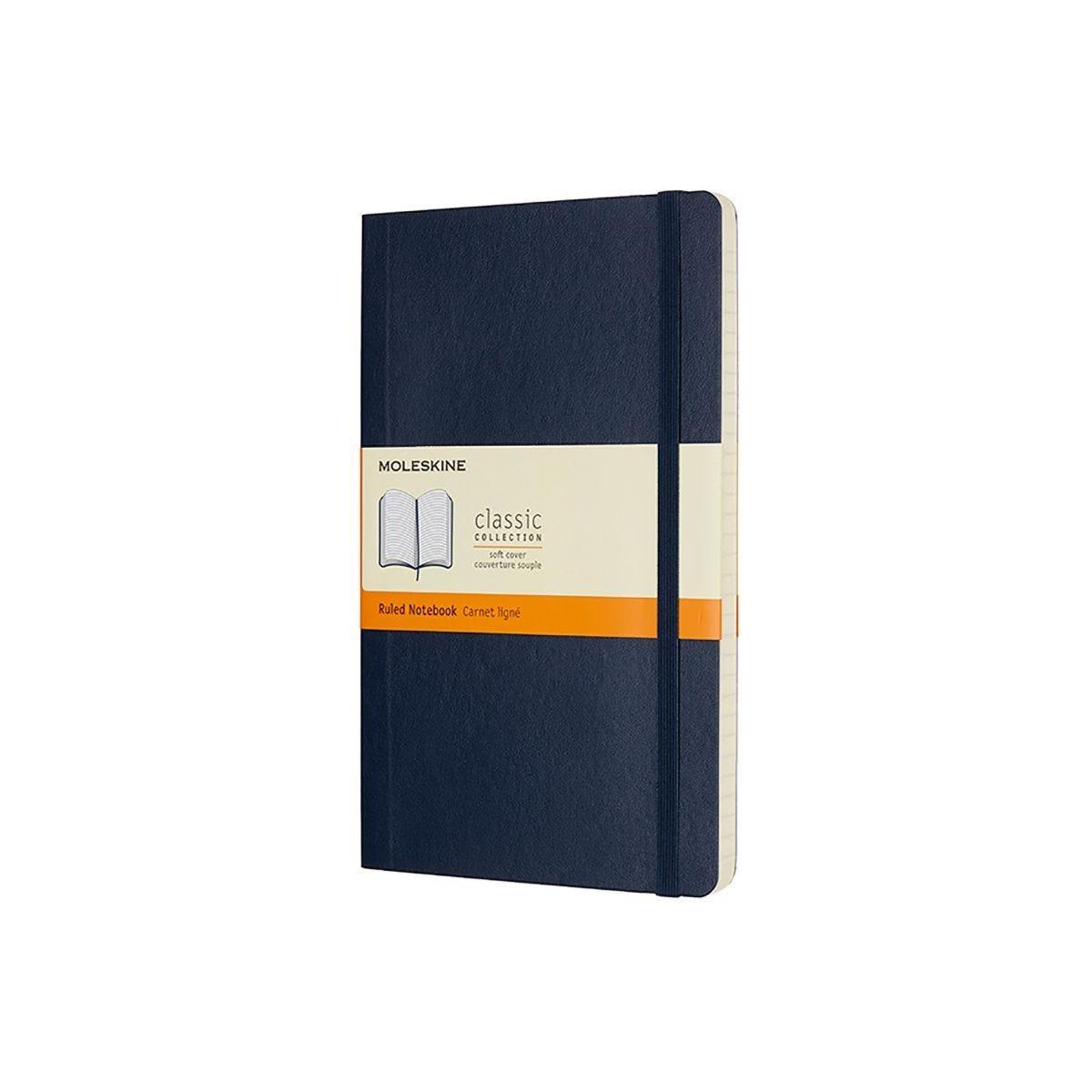Moleskine Soft Cover Classic Notebook Large Ruled Dark Blue