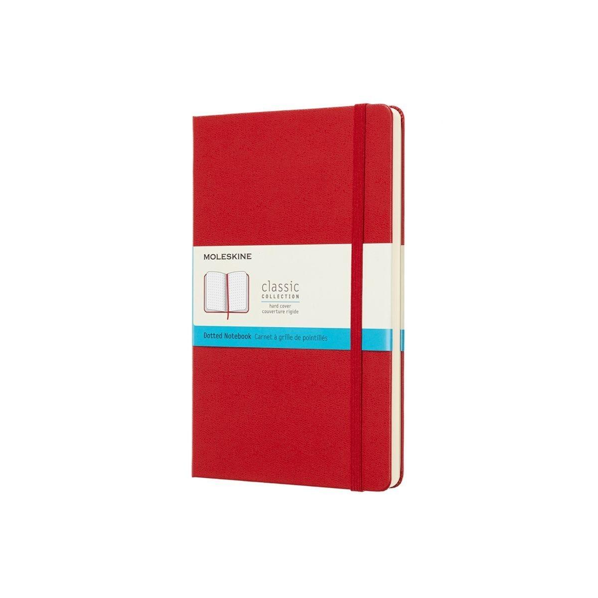Moleskine Dotted Notebook Hardcover Large Scarlet