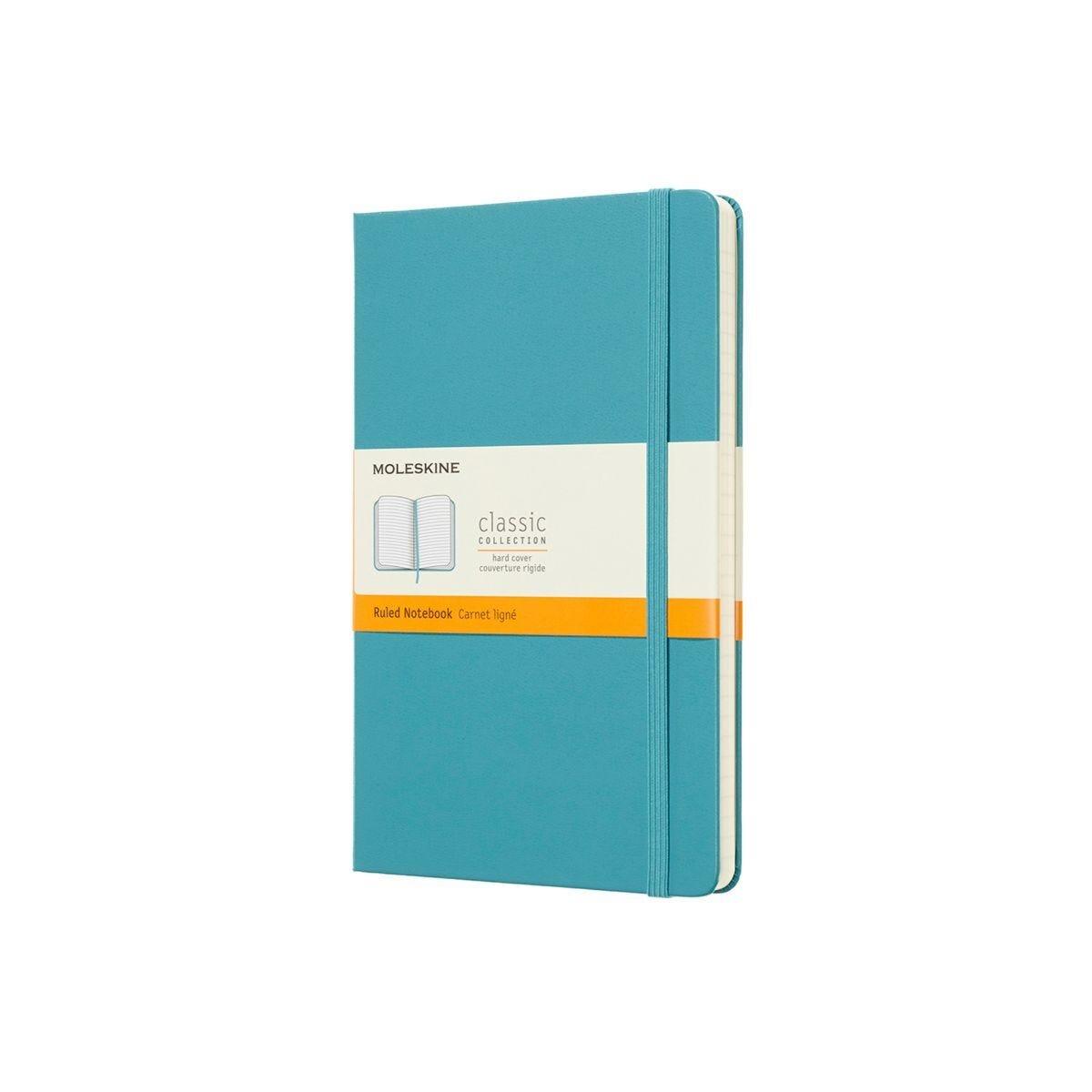 Moleskine Hard Cover Classic Notebook Large Ruled Light Blue