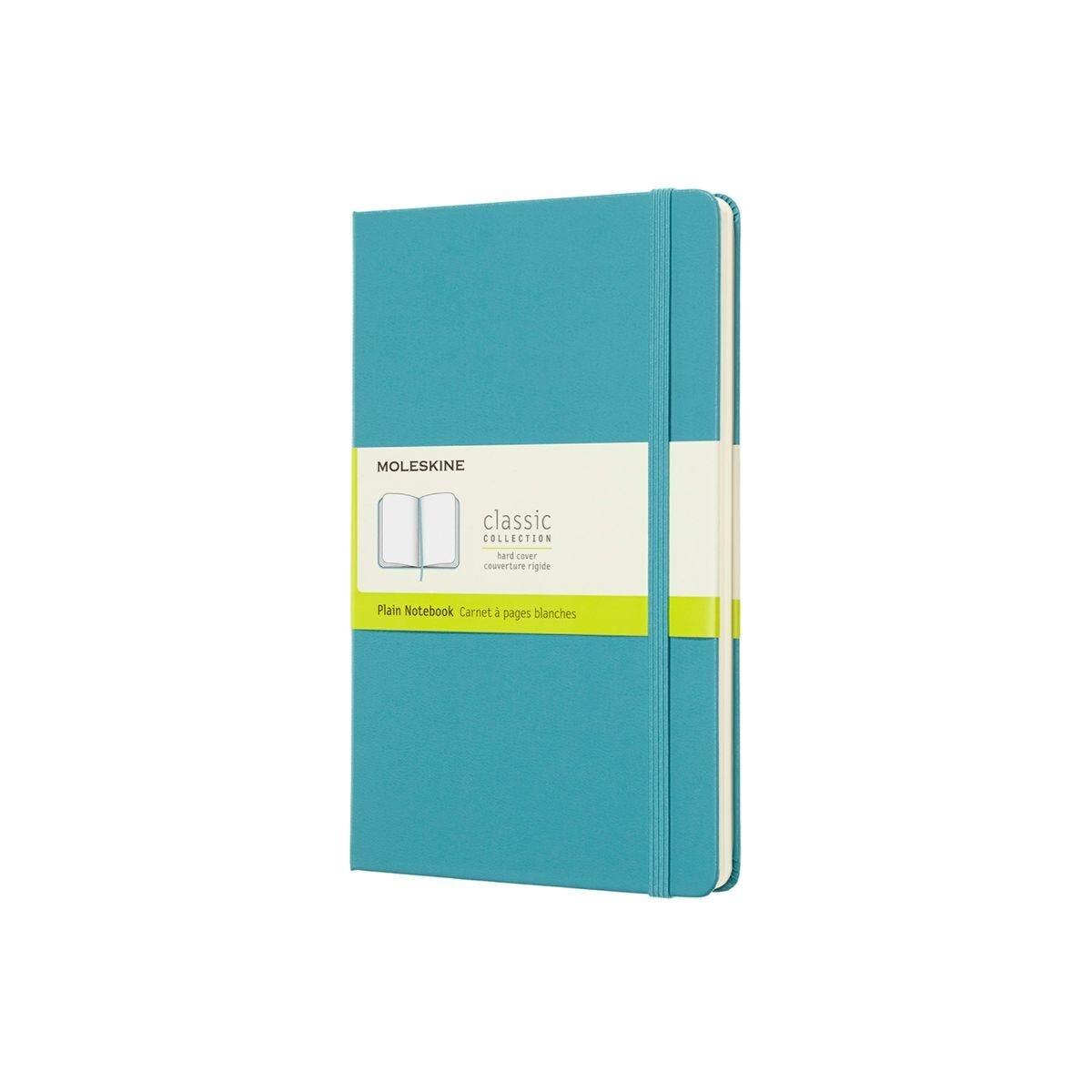 Moleskine Hard Cover Classic Notebook Large Plain Light Blue