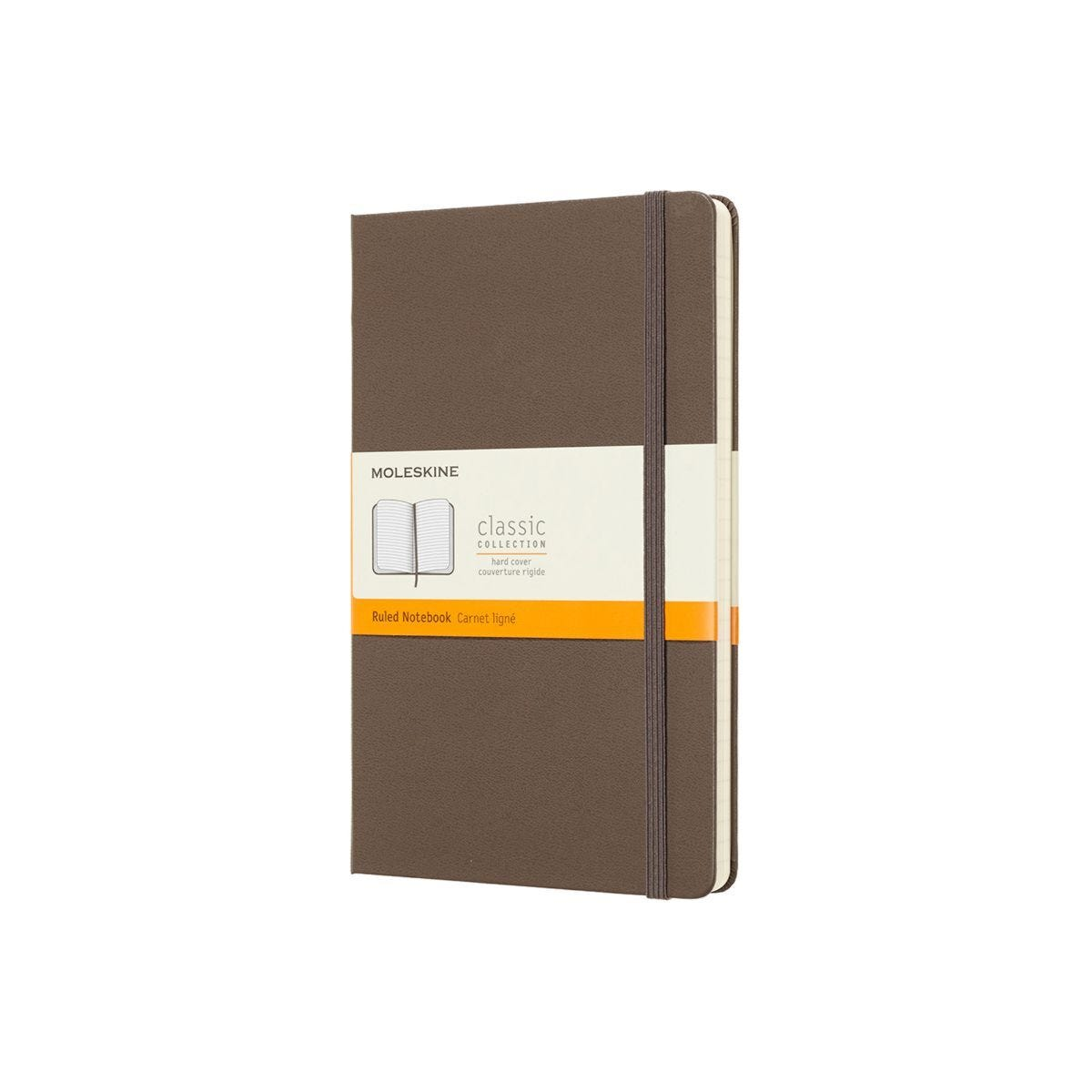 Moleskine Hard Cover Classic Notebook Large Ruled Brown