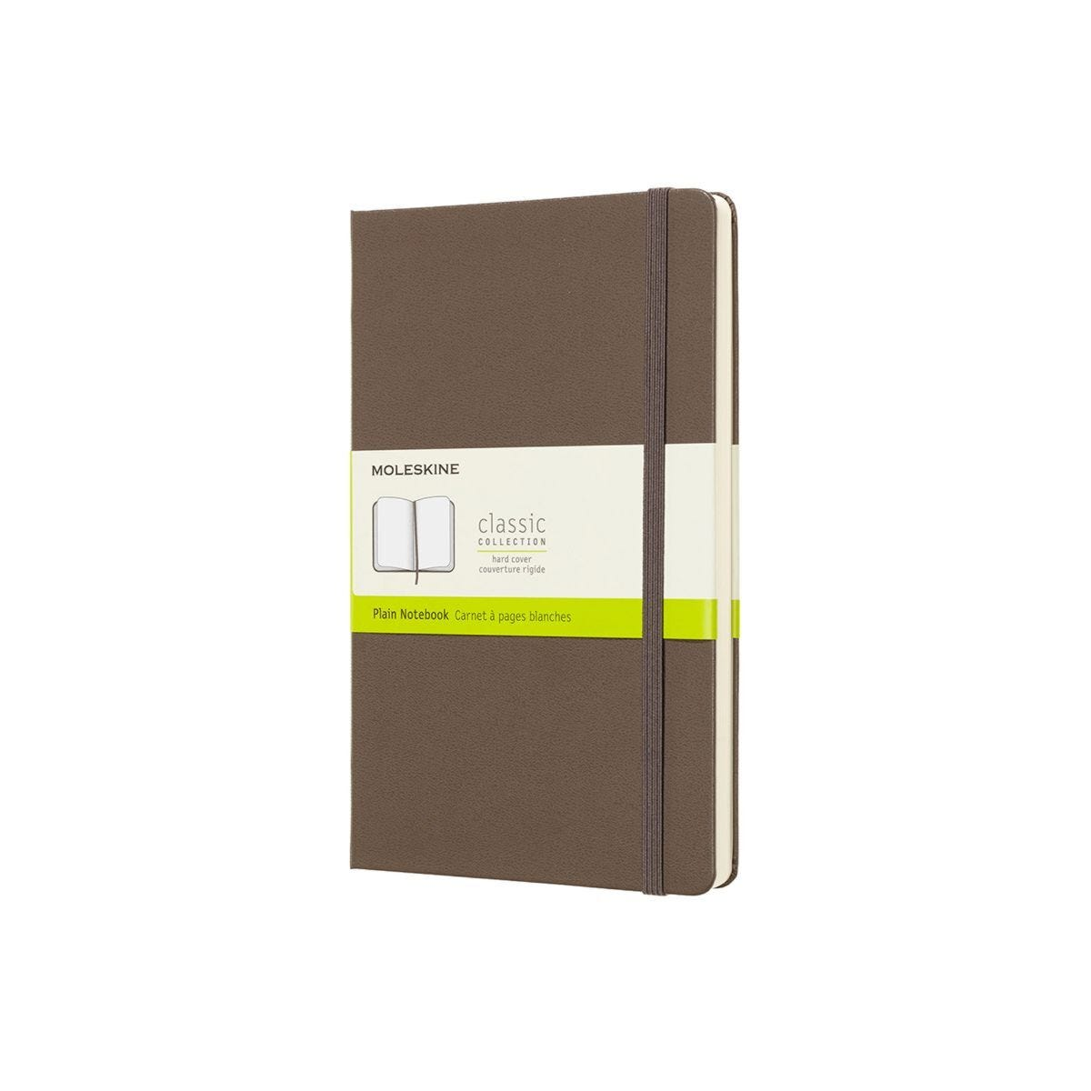 Moleskine Hard Cover Classic Notebook Large Plain Brown