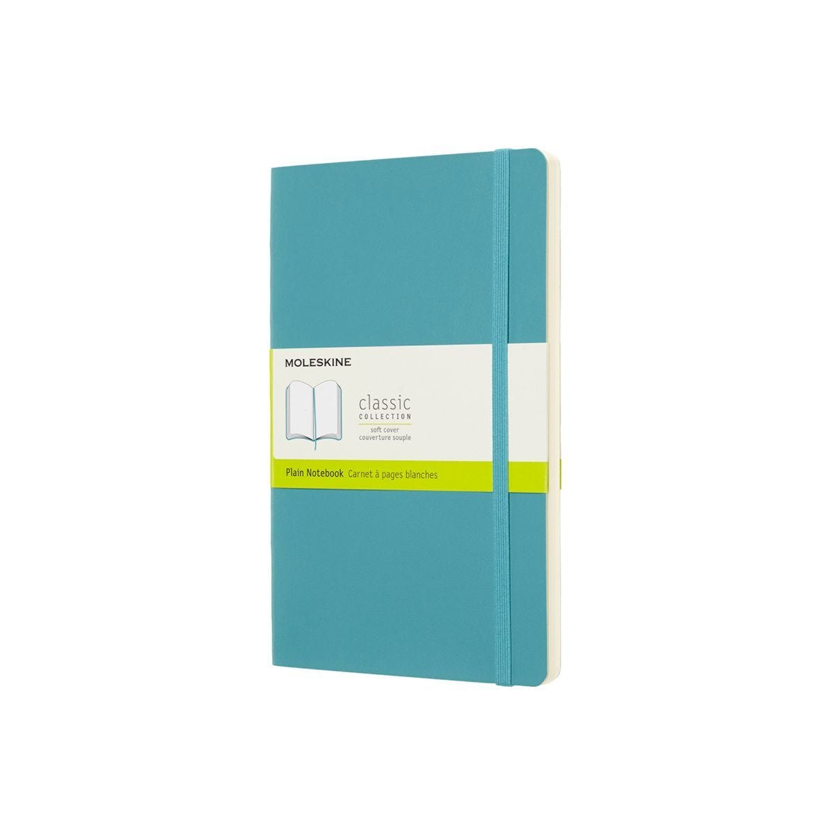 Moleskine Soft Cover Classic Notebook Large Plain Light Blue