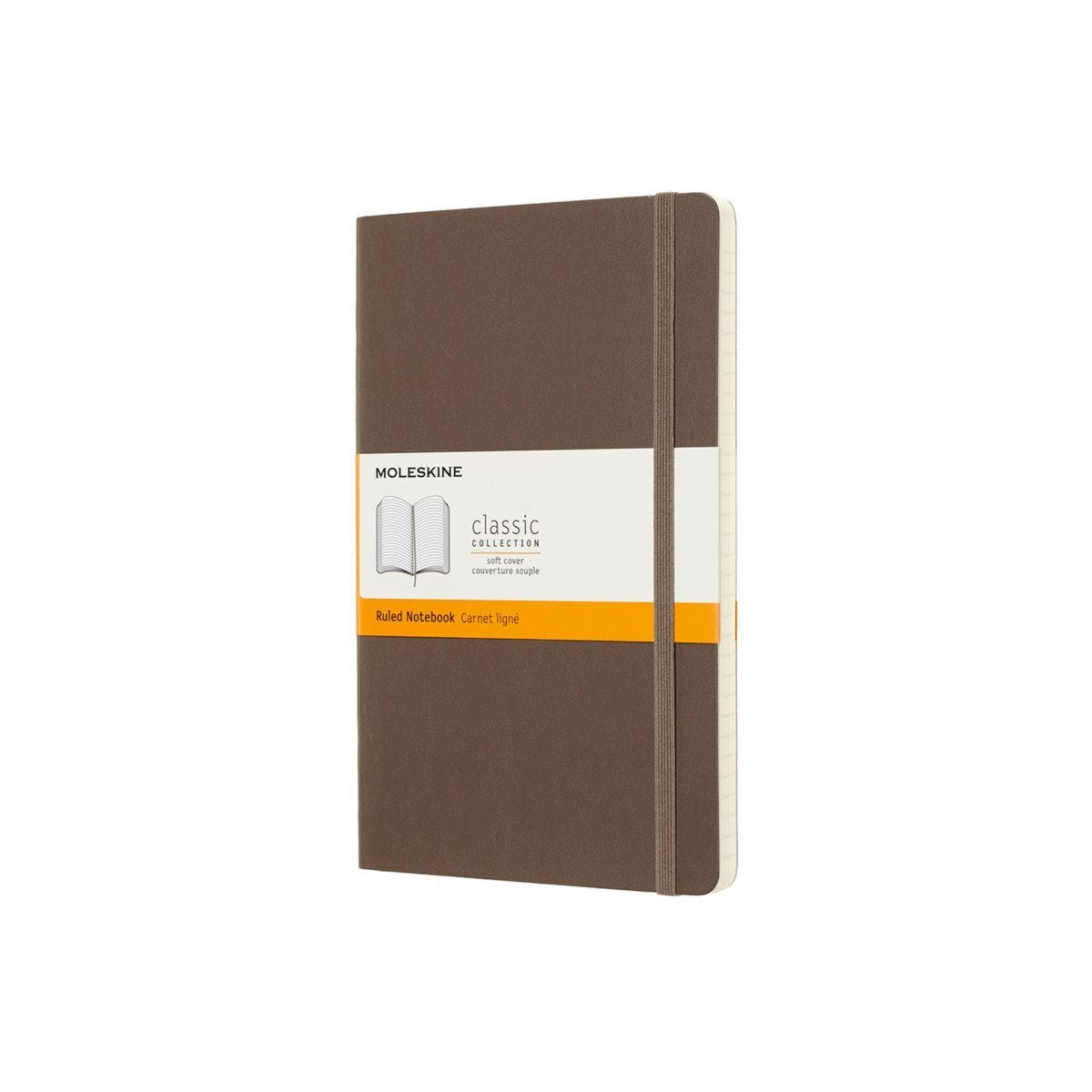 Moleskine Soft Cover Classic Notebook Large Ruled Brown