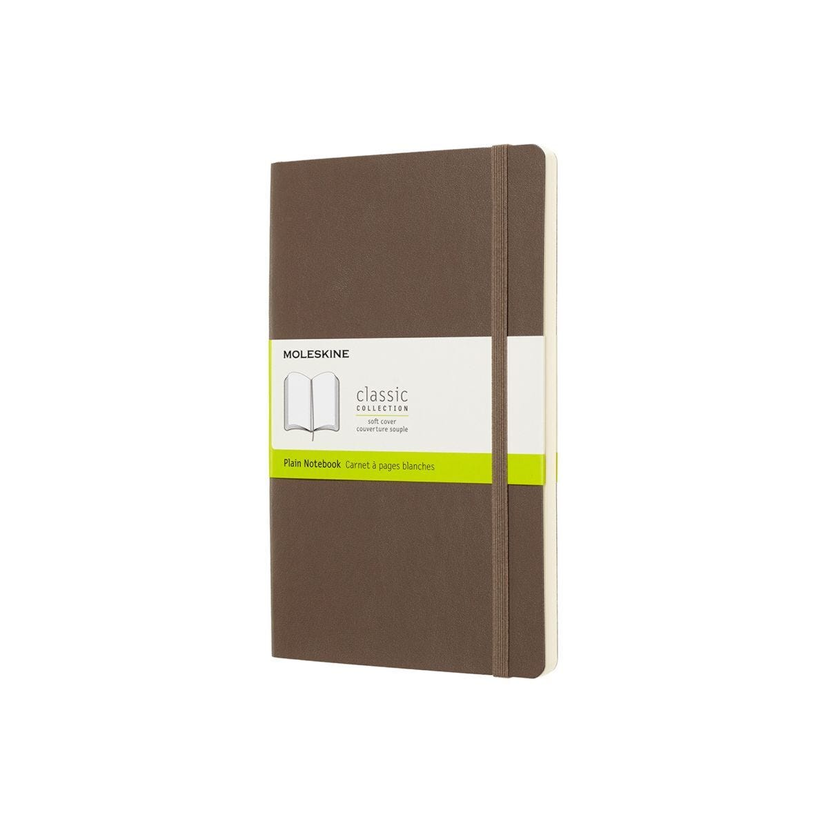 Moleskine Soft Cover Classic Notebook Large Plain Brown
