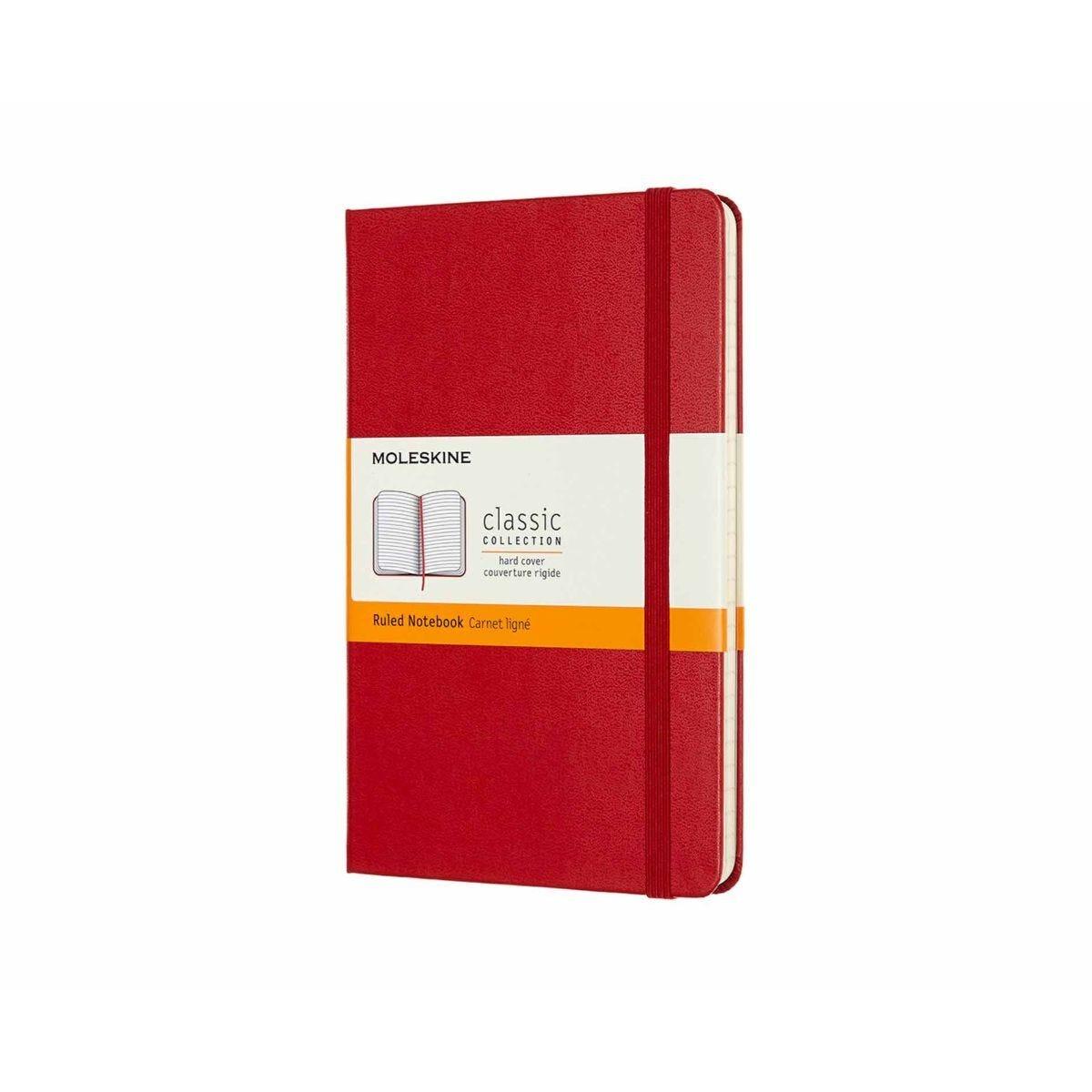 Moleskine Classic Notebook Hardcover Medium Ruled Scarlet Red