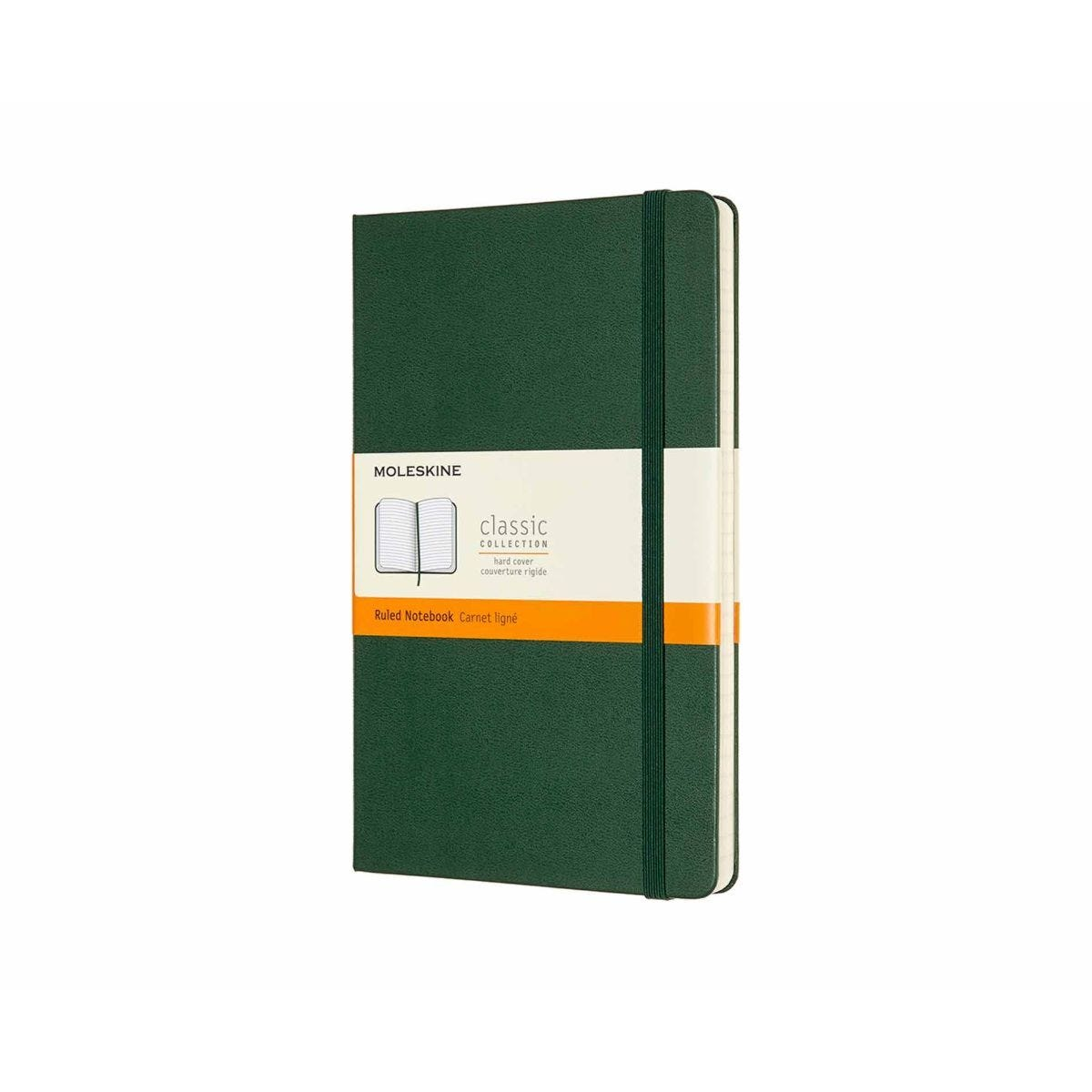 Moleskine Classic Notebook Hardcover Large Ruled Myrtle Green
