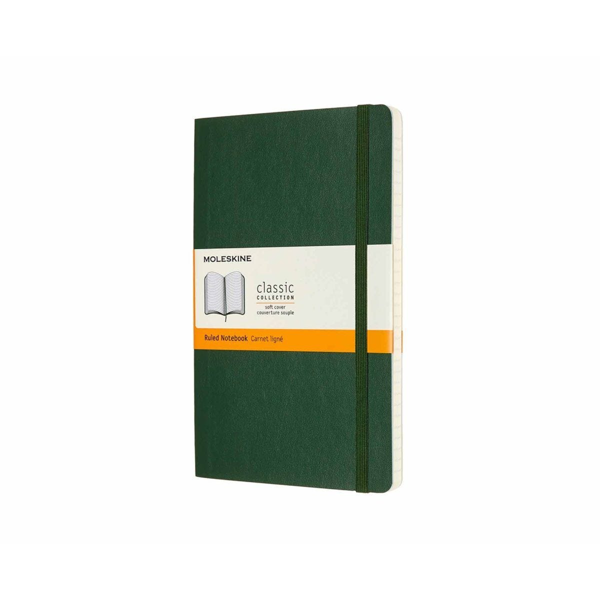 Moleskine Classic Notebook Soft Cover Large Ruled Myrtle Green