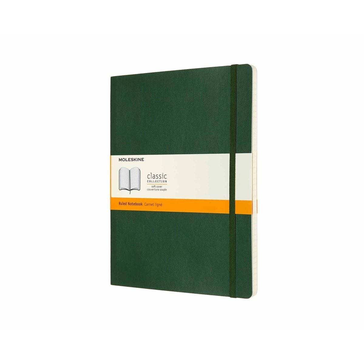 Moleskine Notebook Soft Cover Extra Large Ruled Myrtle Green