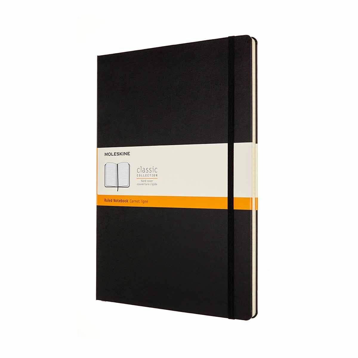 Moleskine Hardcover Notebook A4 Ruled Black