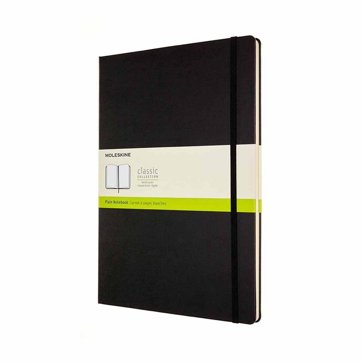 Moleskine Hardcover Notebook A4 Plain Black
