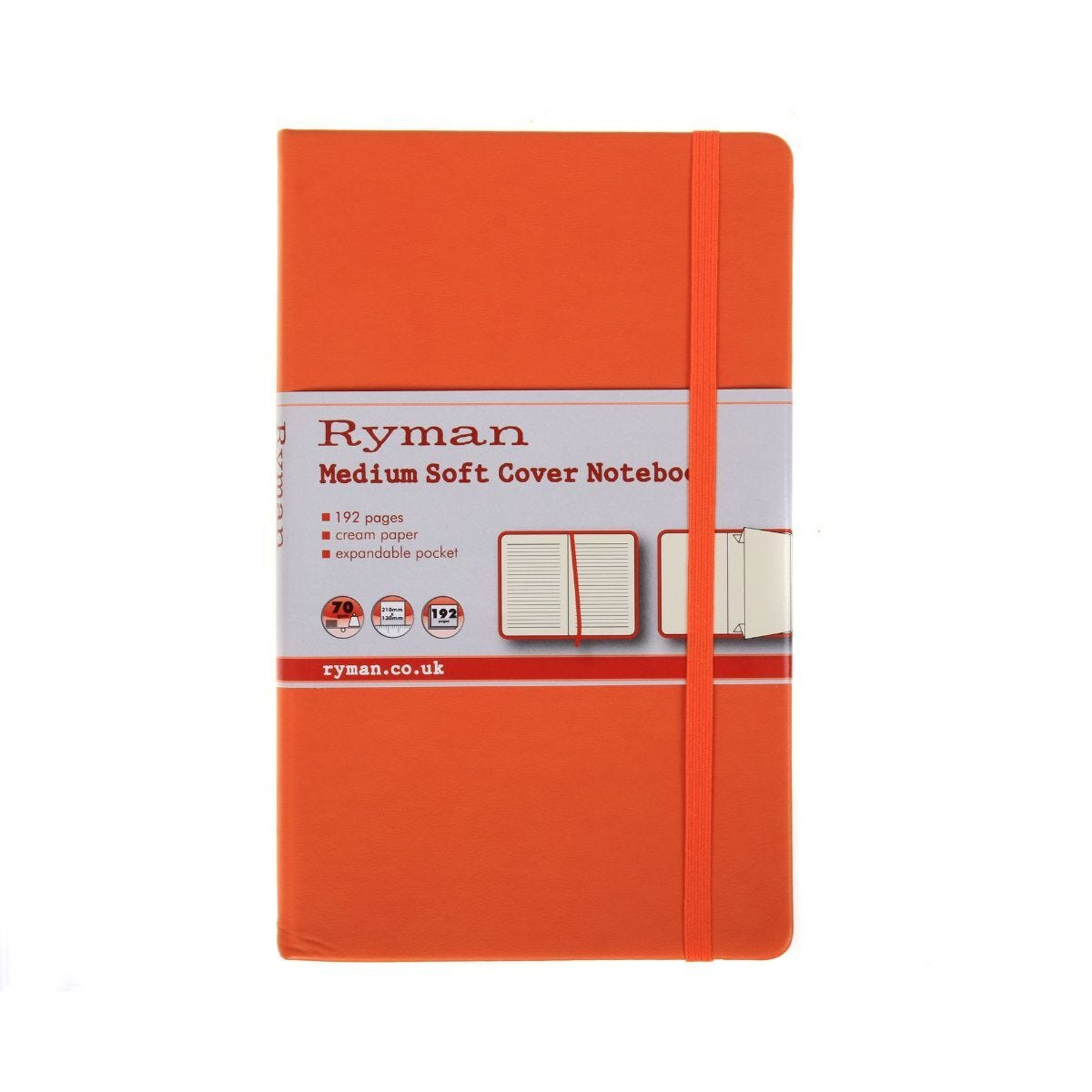 Ryman Soft Cover Notebook Medium Ruled 192 Pages 96 Sheets