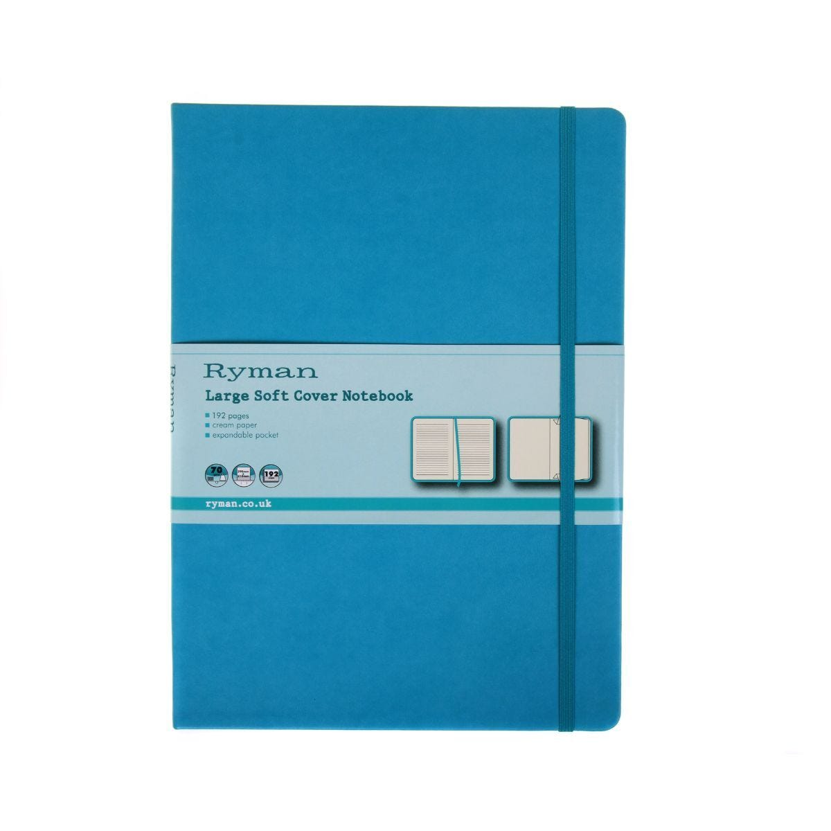 Ryman Soft Cover Notebook Large Ruled 192 Pages 96 Sheets Teal