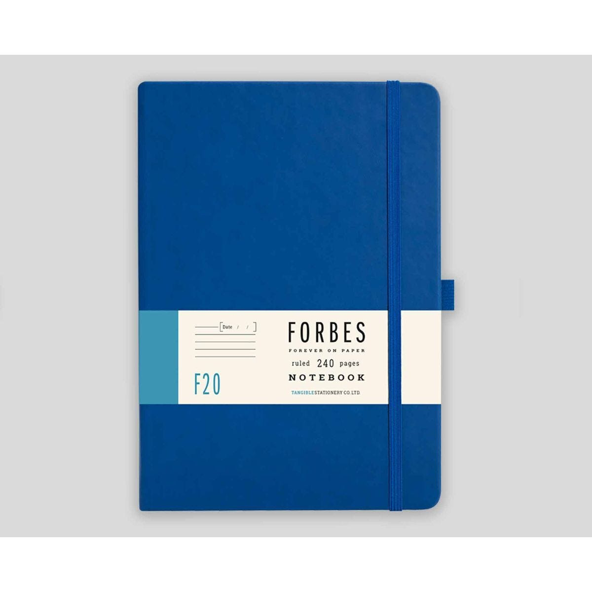 FORBES Classic Hard Cover Notebook Ruled A5 240 Pages Blue