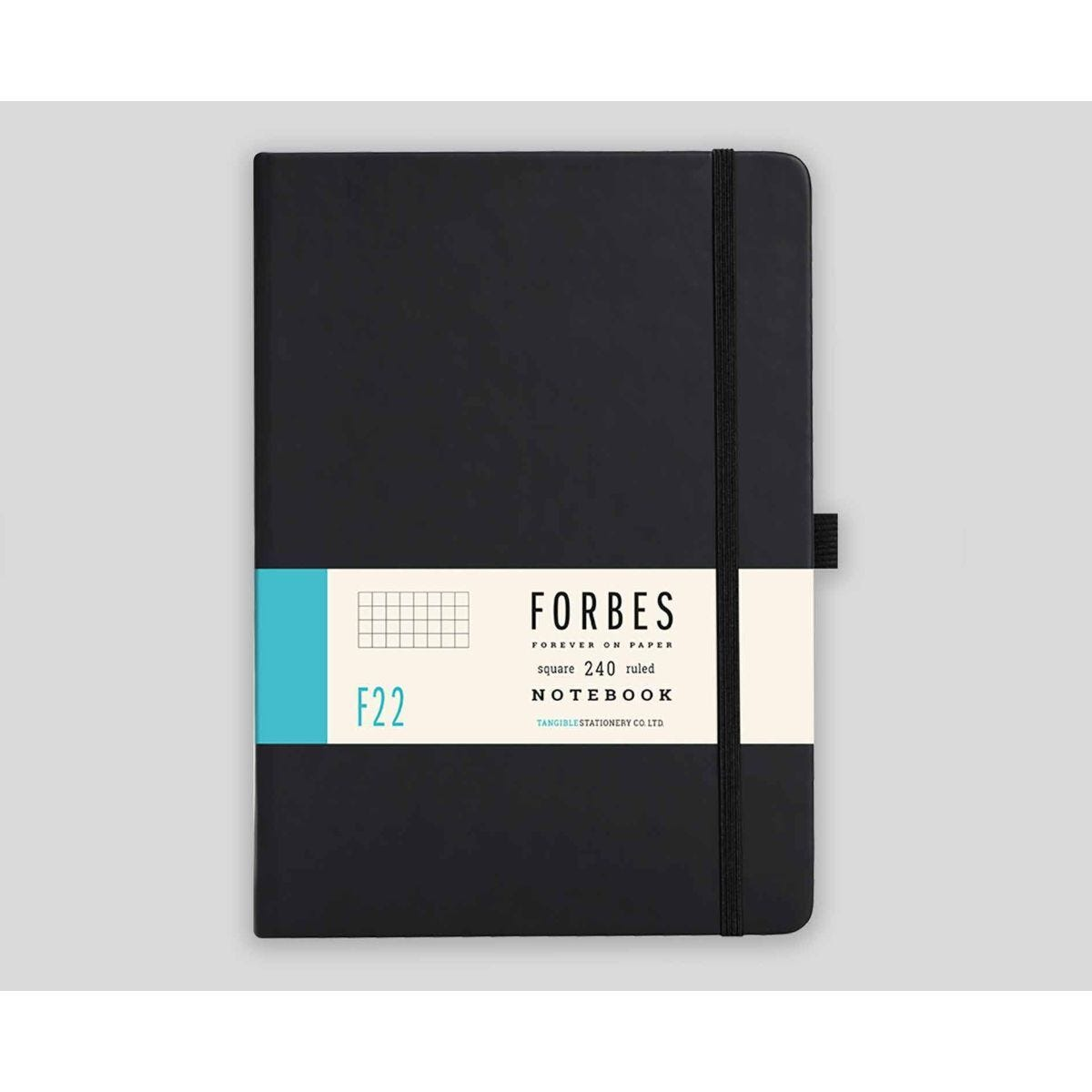 FORBES Classic Hard Cover Notebook Squared A5 240 Pages Black