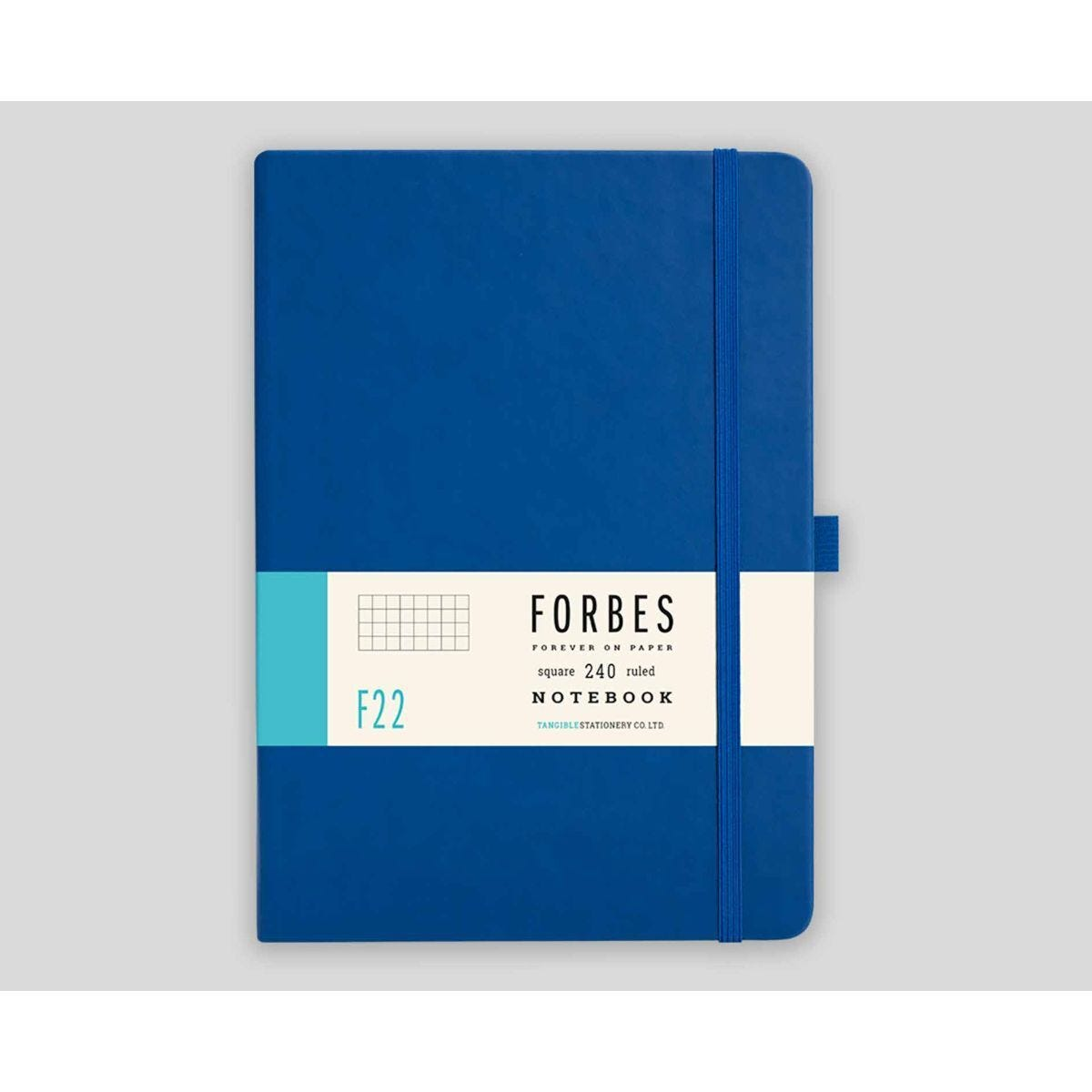 FORBES Classic Hard Cover Notebook Squared A5 240 Pages Blue