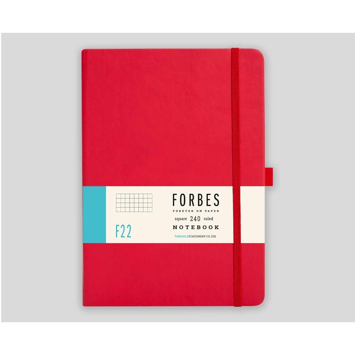 FORBES Classic Hard Cover Notebook Squared A5 240 Pages Red