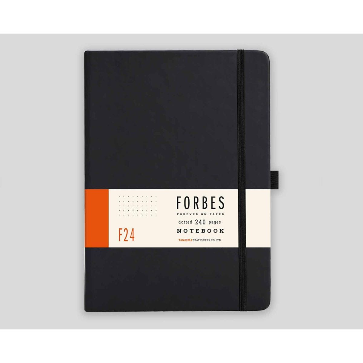 FORBES Classic Hard Cover Notebook Dotted A5 240 Pages Black