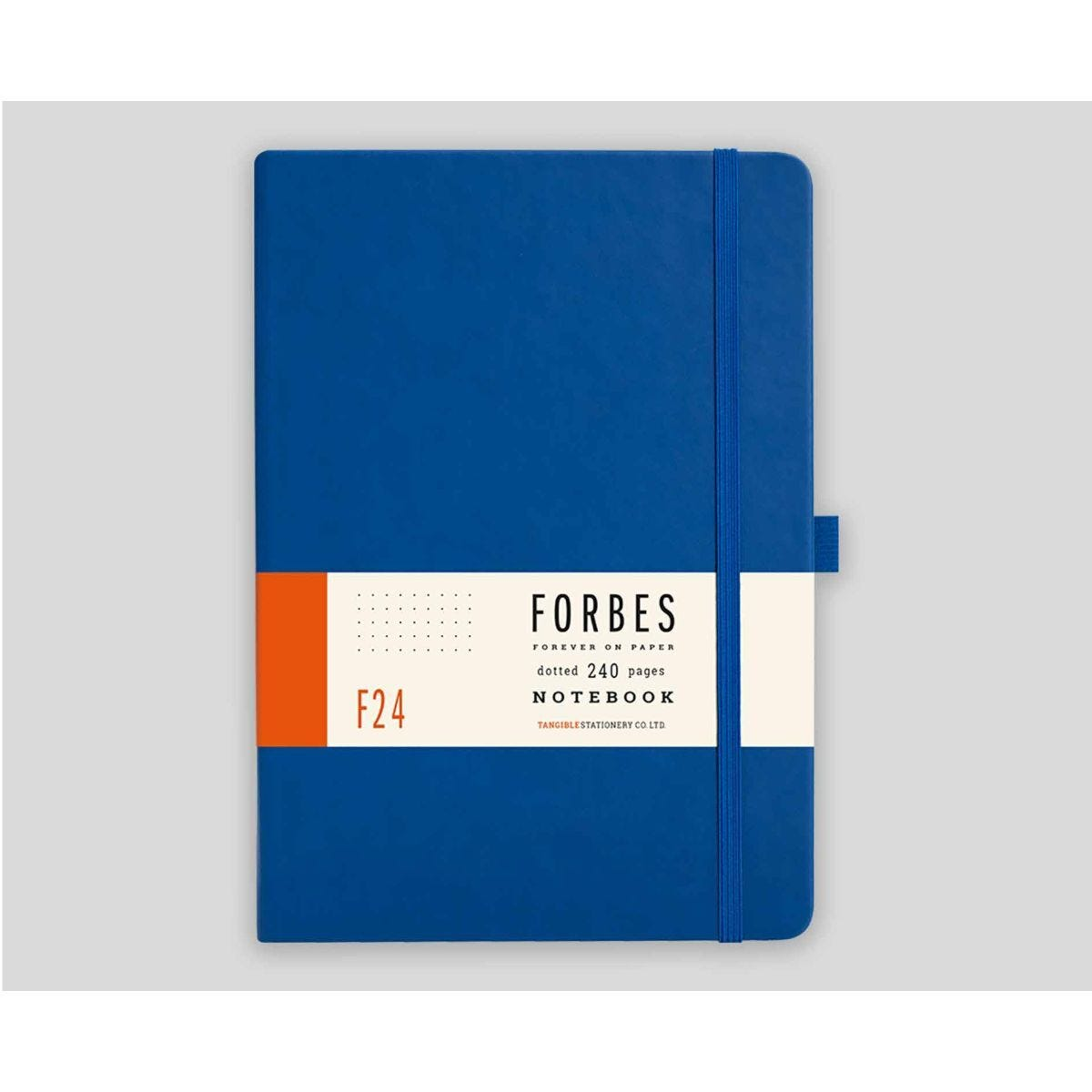 FORBES Classic Hard Cover Notebook Dotted A5 240 Pages Blue