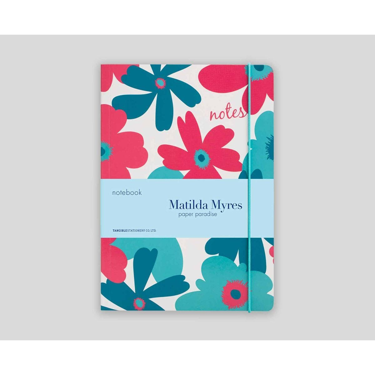 Matilda Myres Floral Notebook Ruled A5 192 Pages Blue