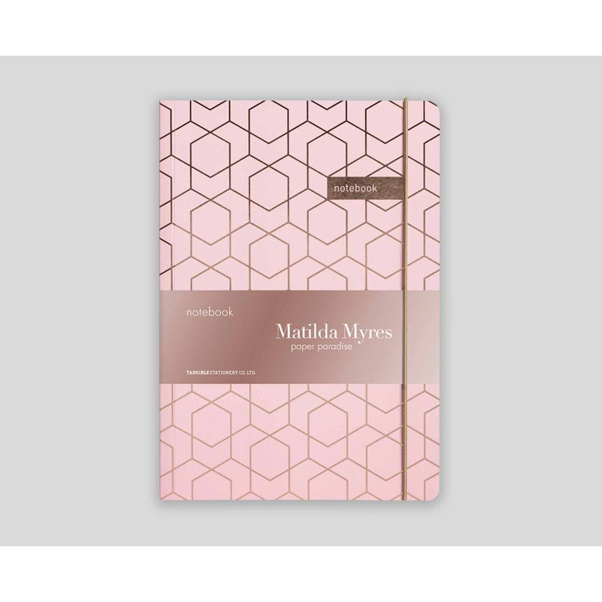 Matilda Myres Geometric Notebook Ruled A5 192 Pages