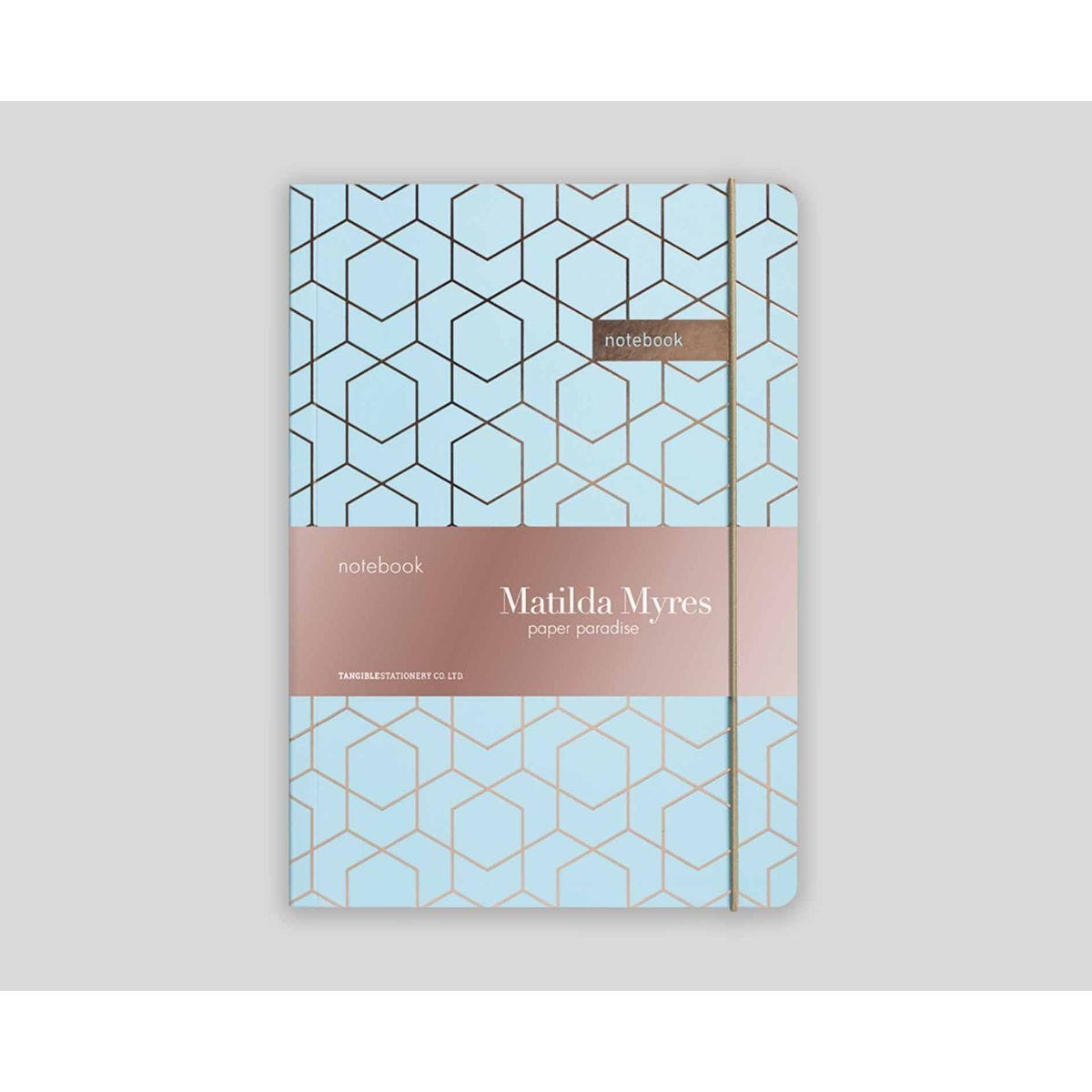 Matilda Myres Geometric Notebook Ruled A5 192 Pages Blue