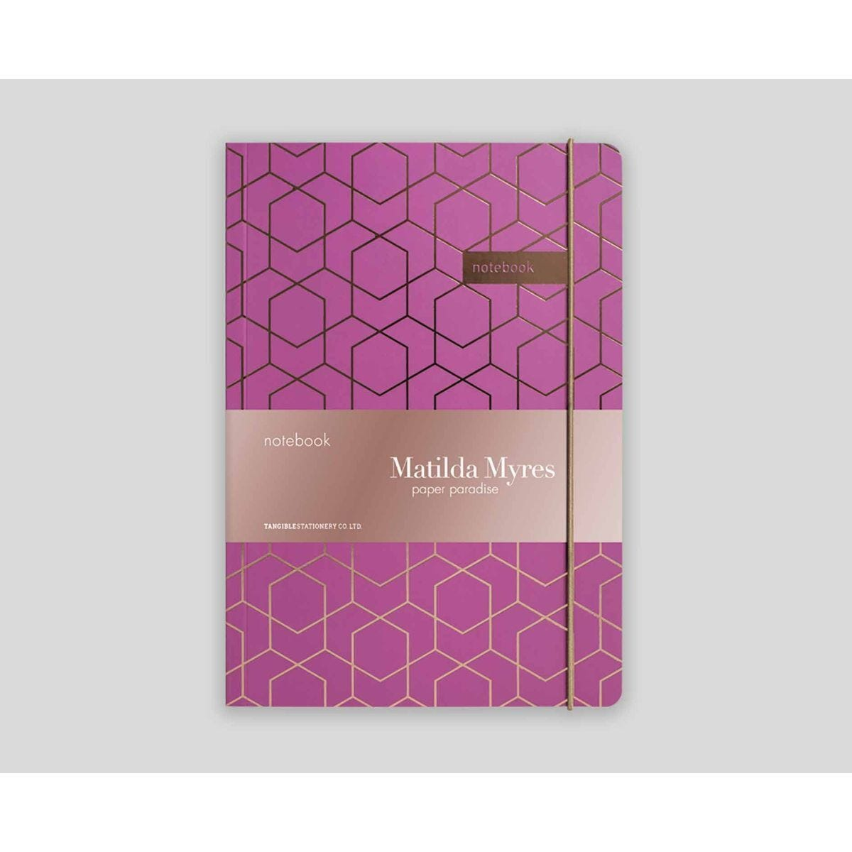 Matilda Myres Geometric Notebook Ruled A5 192 Pages Purple