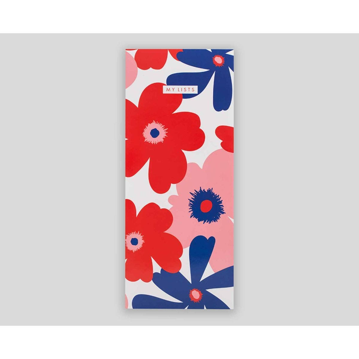 Matilda Myres Floral List Pad Slim Lined 200 Pages Red
