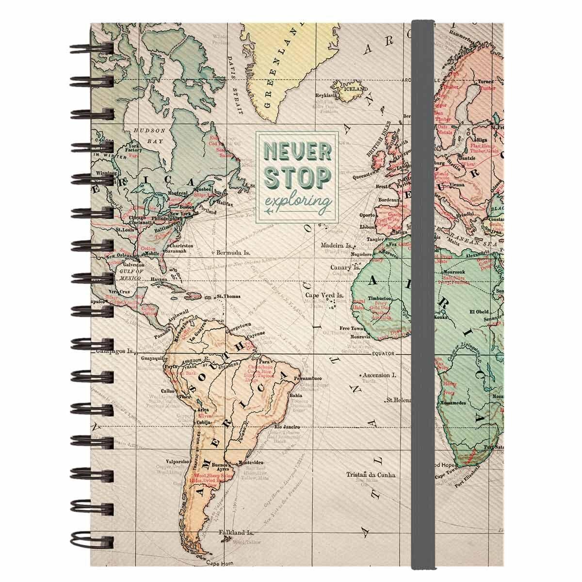 Legami A5 Spiral Notebook Travel