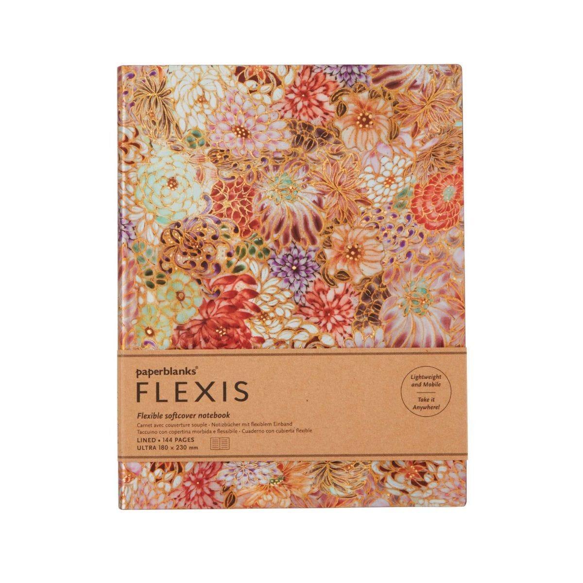 Paperblanks Floral Kikka Flexi Notebook Ultra
